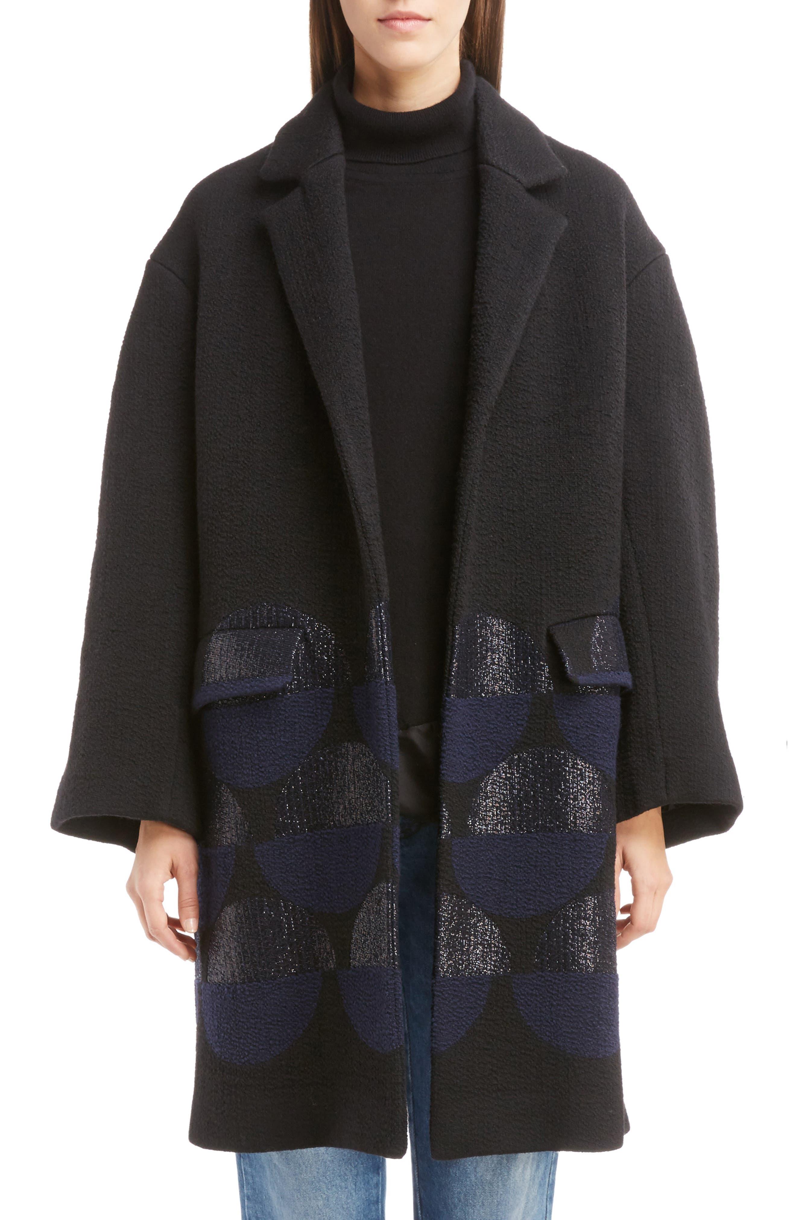 Main Image - Dries Van Noten Dot Print Wool Blend Coat (Nordstrom Exclusive)