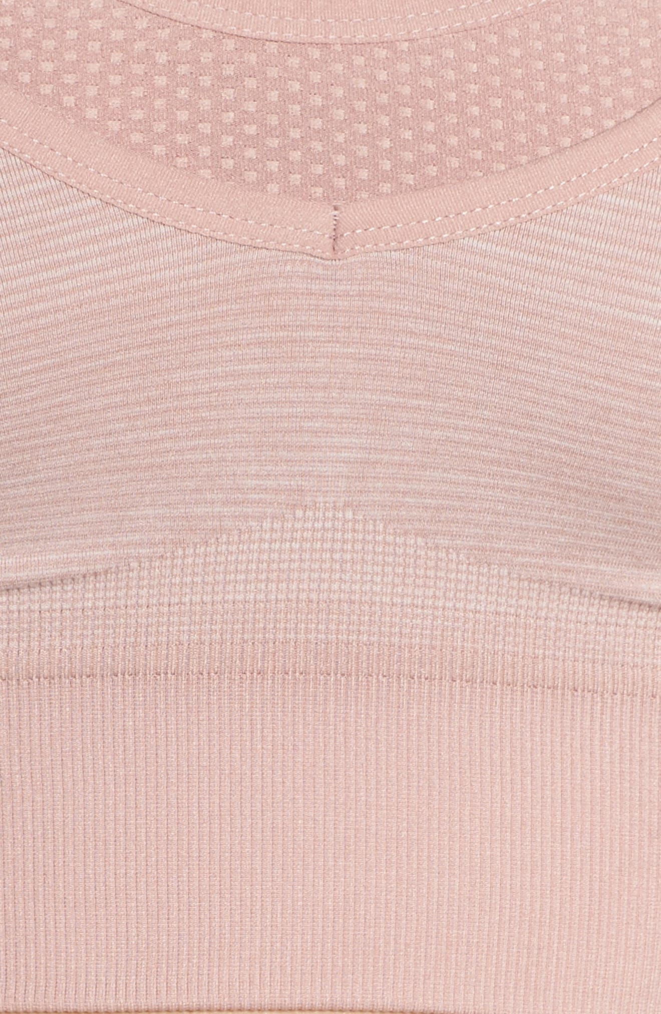 Layered Longline Sports Bra,                             Alternate thumbnail 6, color,                             Pink Dusk