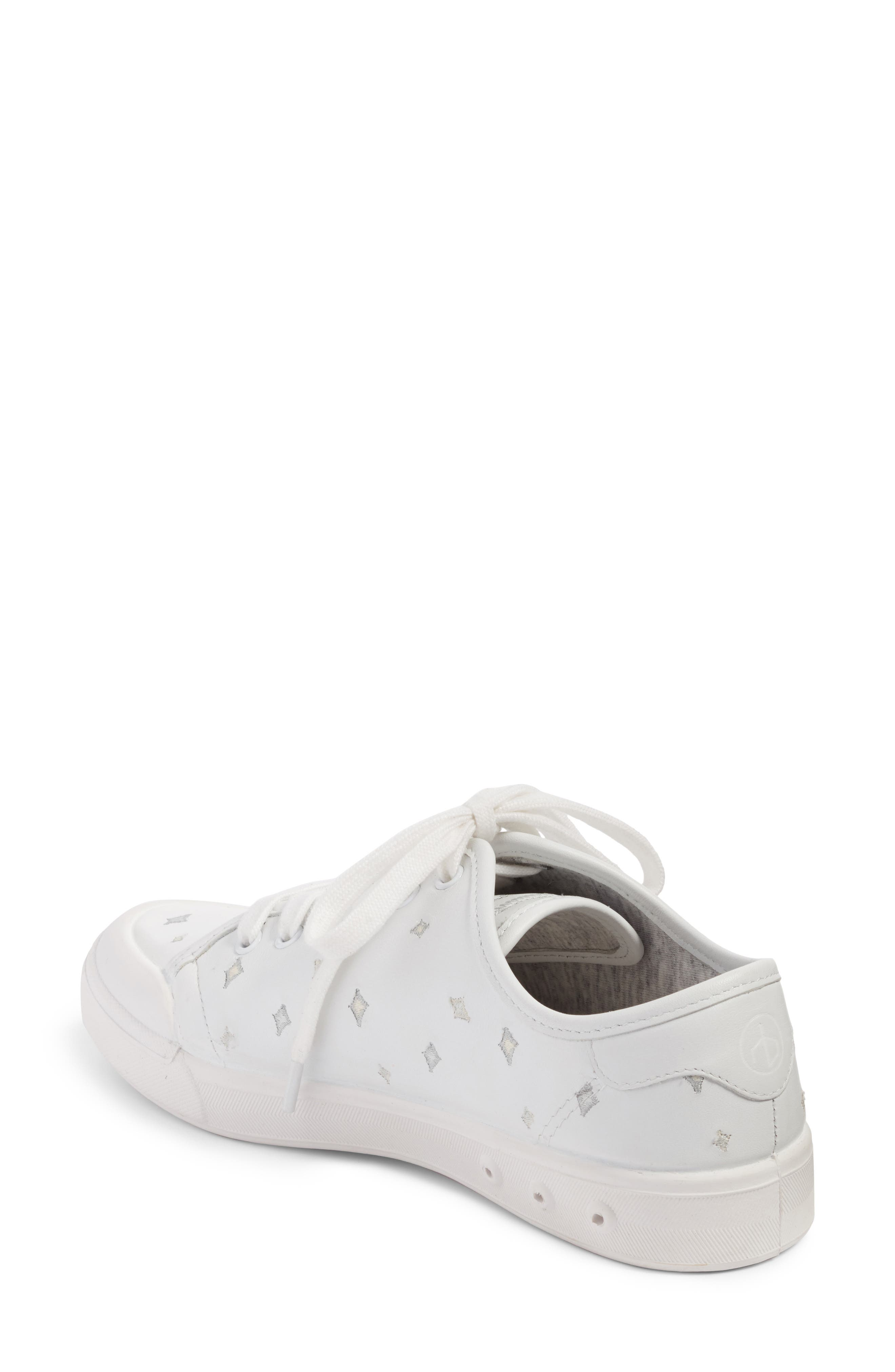 Embroidered Standard Issue Sneaker,                             Alternate thumbnail 2, color,                             White Leather Embroidery