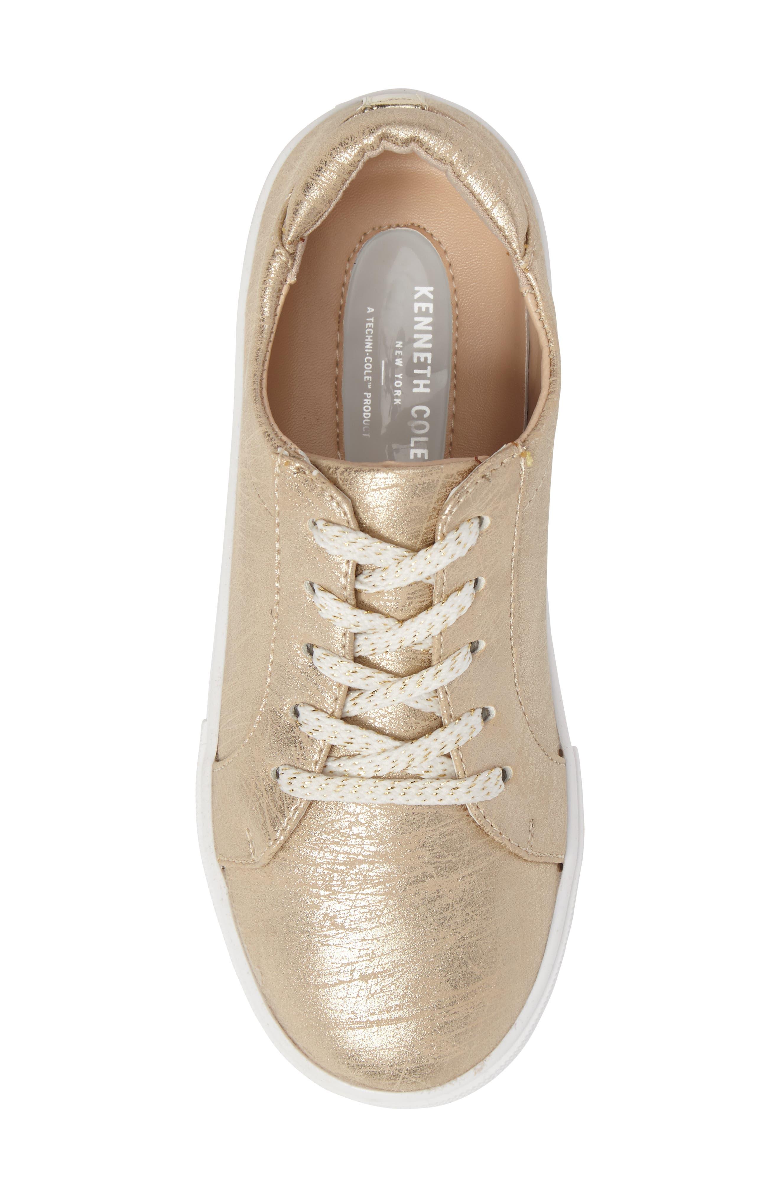 Kam Elastic Sneaker,                             Alternate thumbnail 5, color,                             Gold Brushed