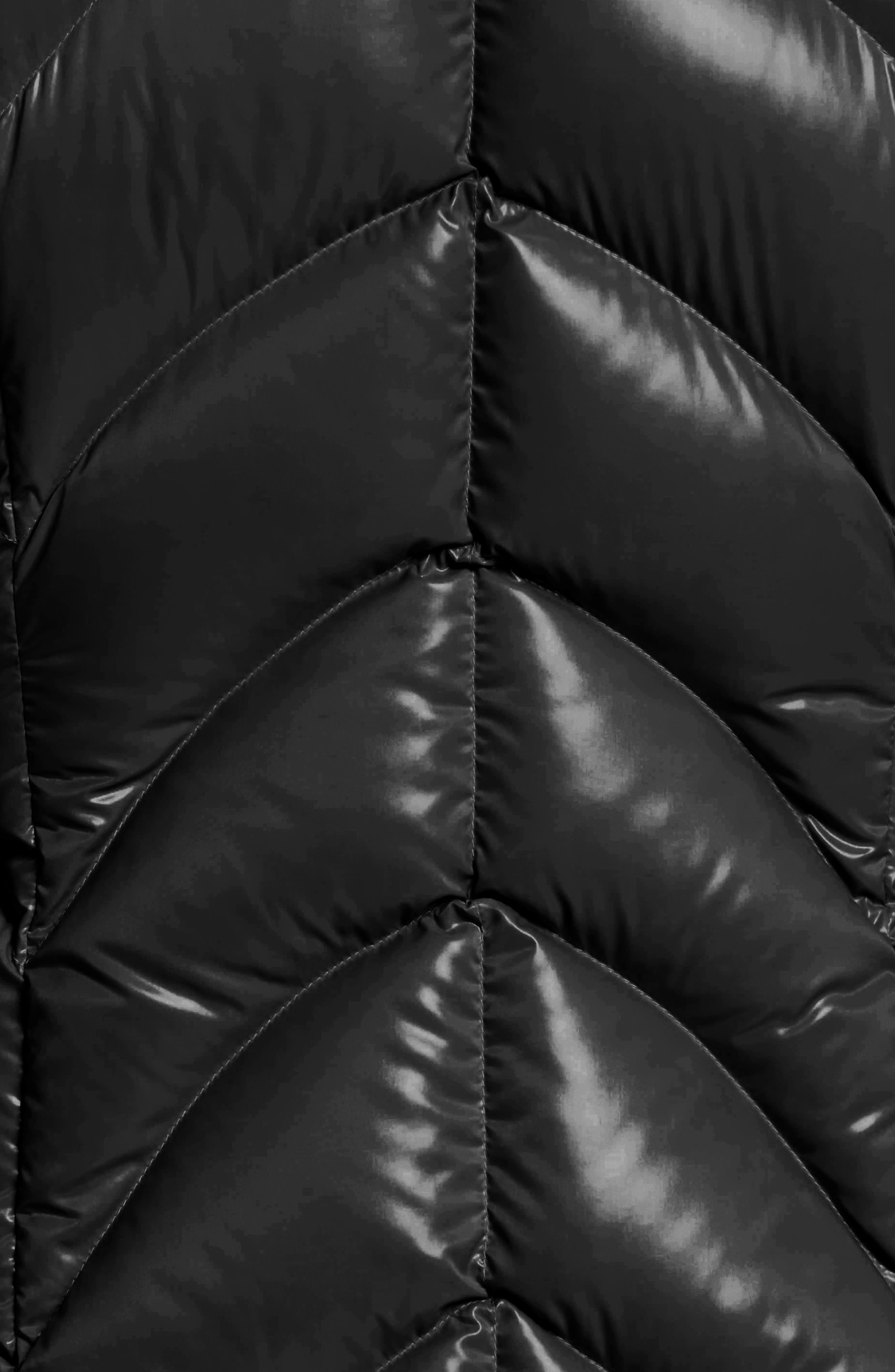 Akebia Quilted Down Jacket,                             Alternate thumbnail 5, color,                             Black
