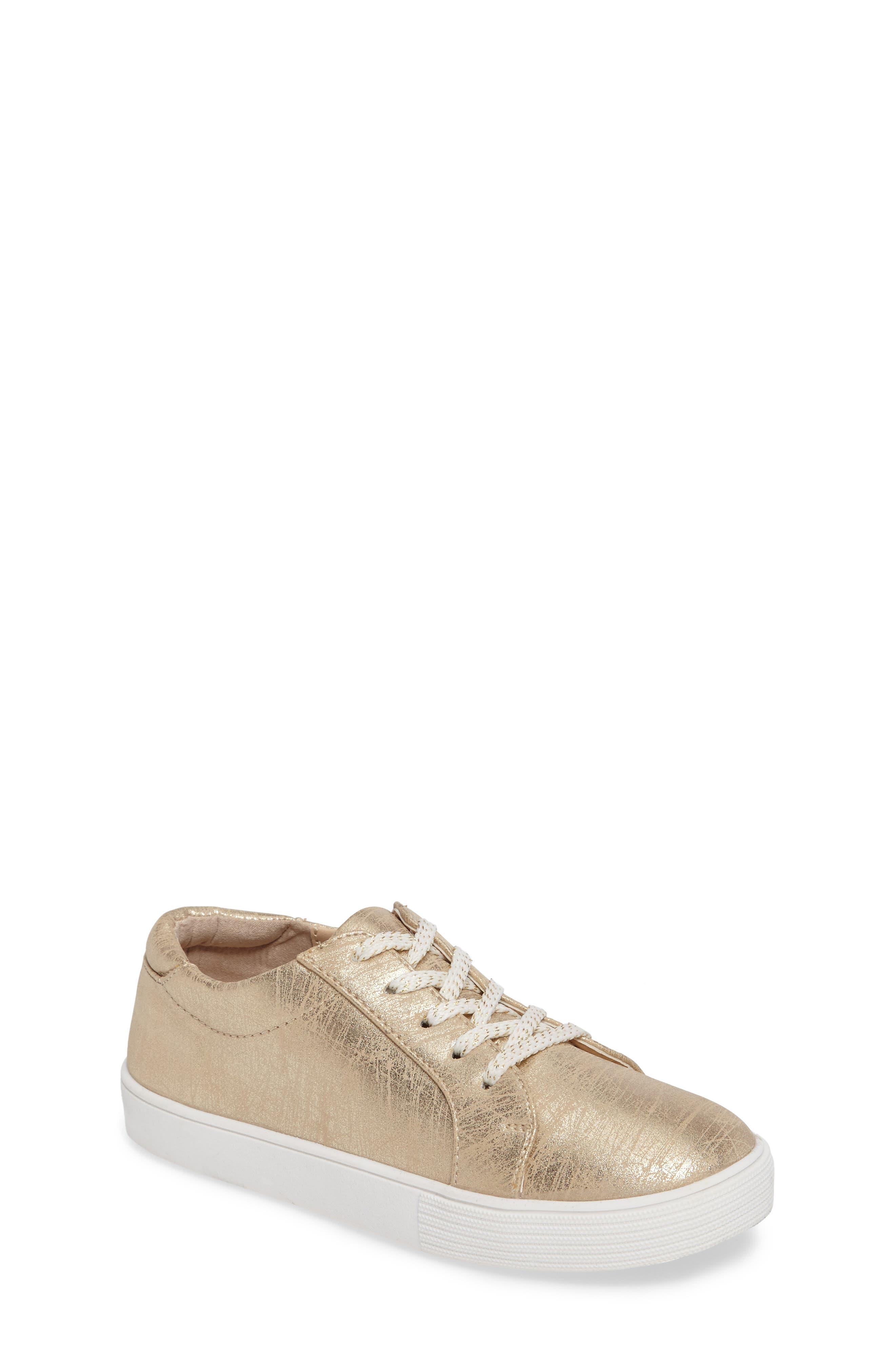 Kam Elastic Sneaker,                             Main thumbnail 1, color,                             Gold Brushed