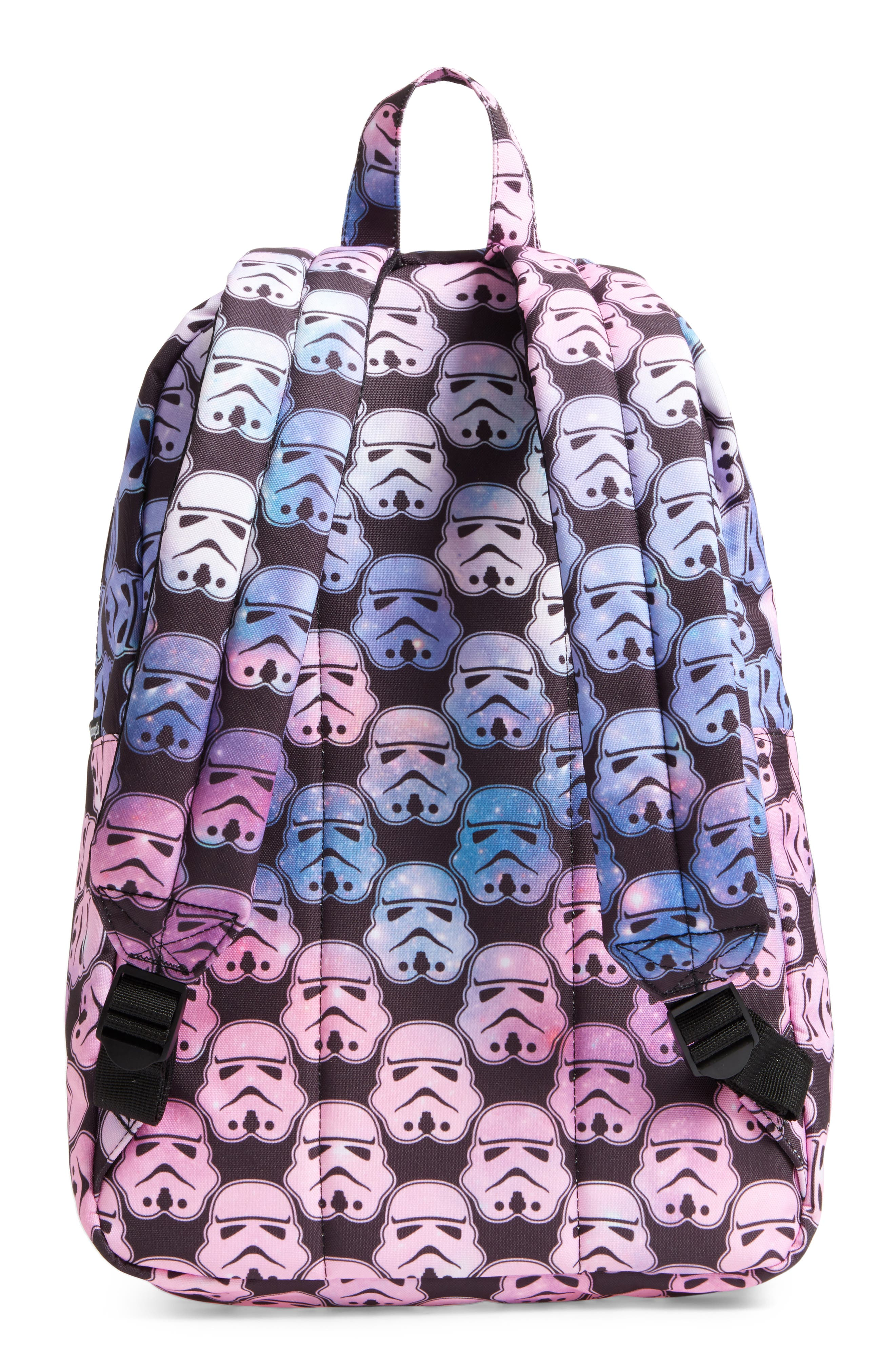 Star Wars<sup>™</sup> Stormtrooper Galaxy Backpack,                             Alternate thumbnail 2, color,                             Multi Black