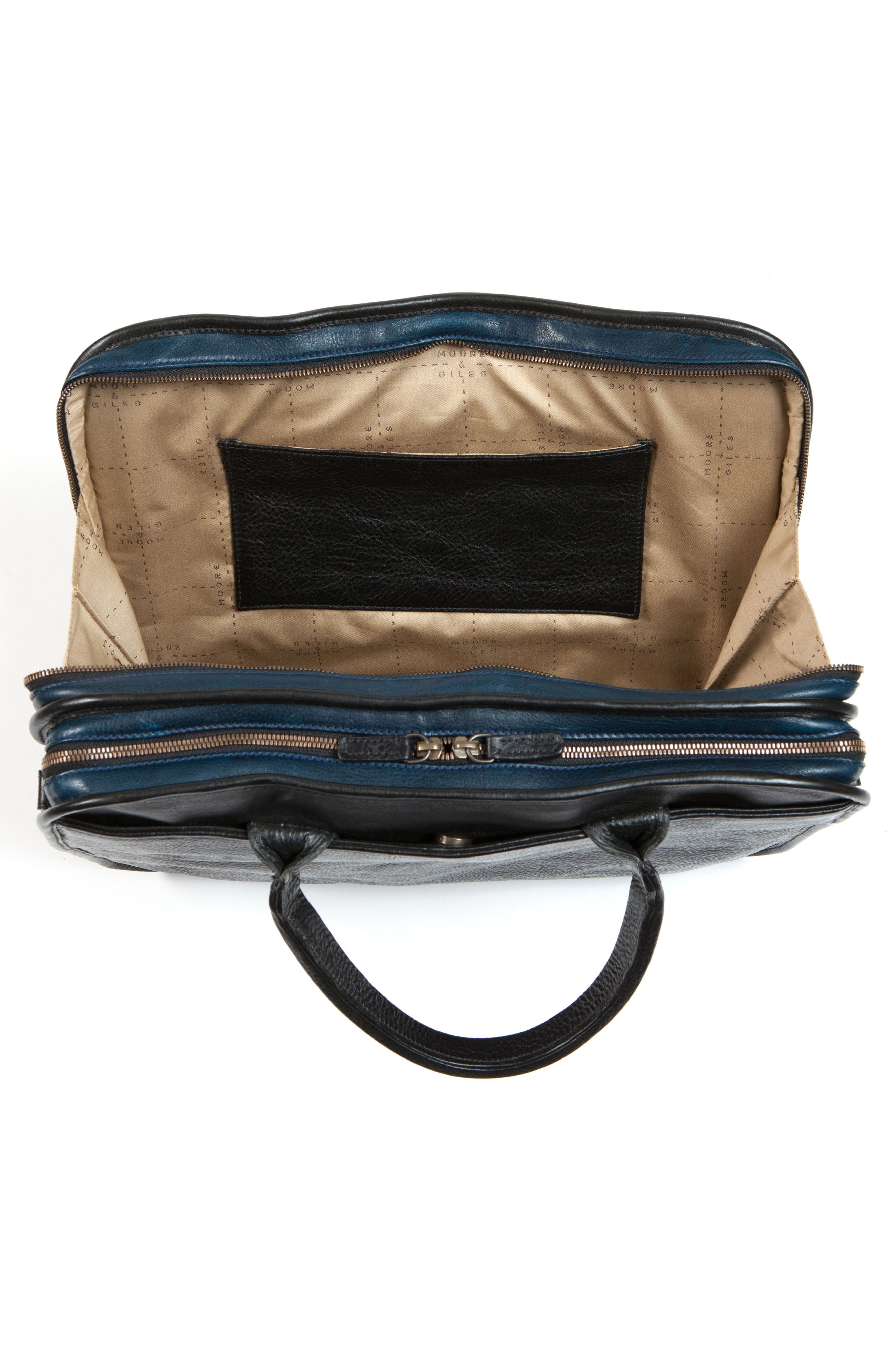Miller Leather Briefcase,                             Alternate thumbnail 10, color,                             Titan Milled Navy And Gunmetal