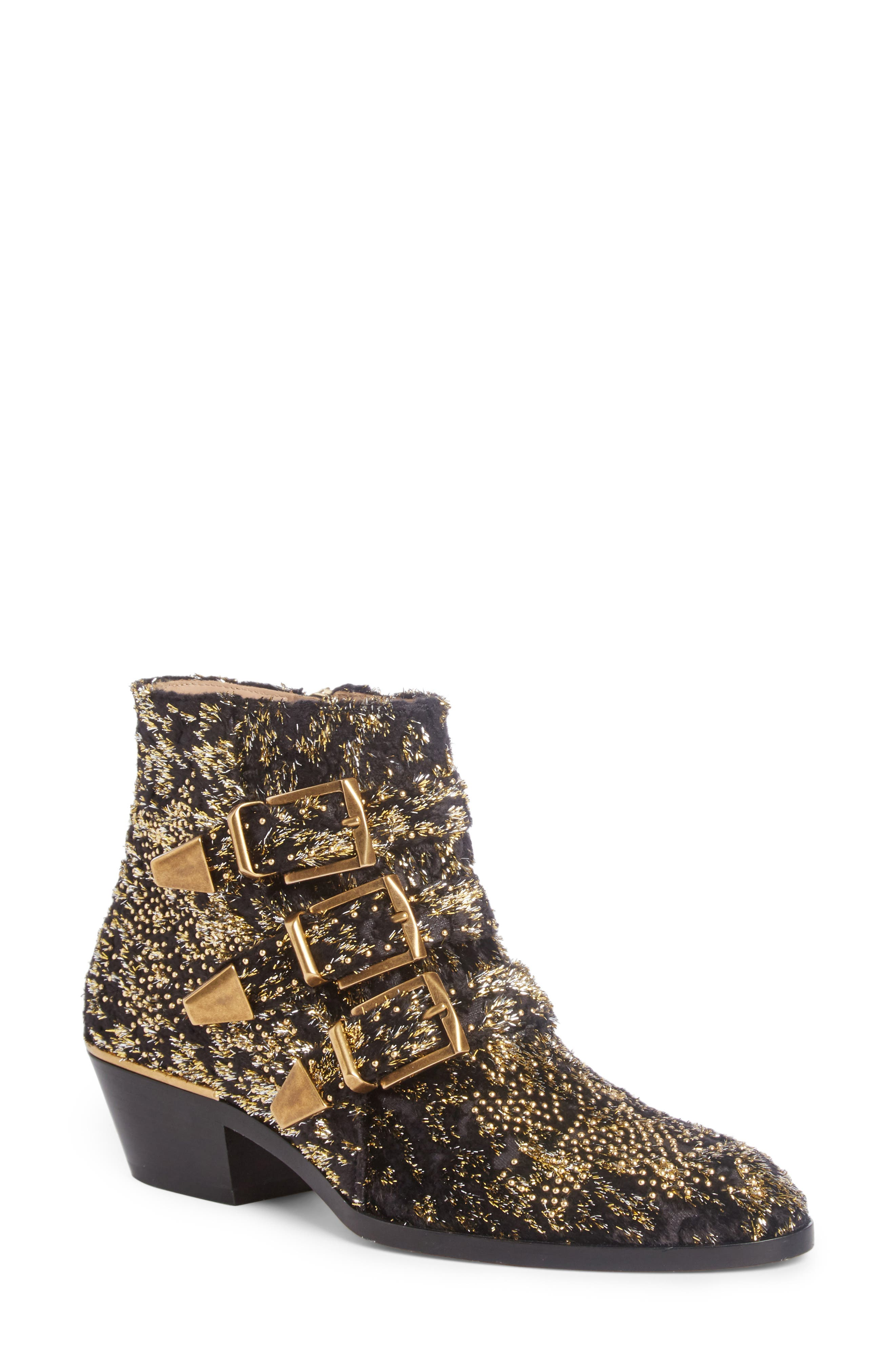 Alternate Image 1 Selected - Chloé Susanna Tinsel Studded Bootie (Women)