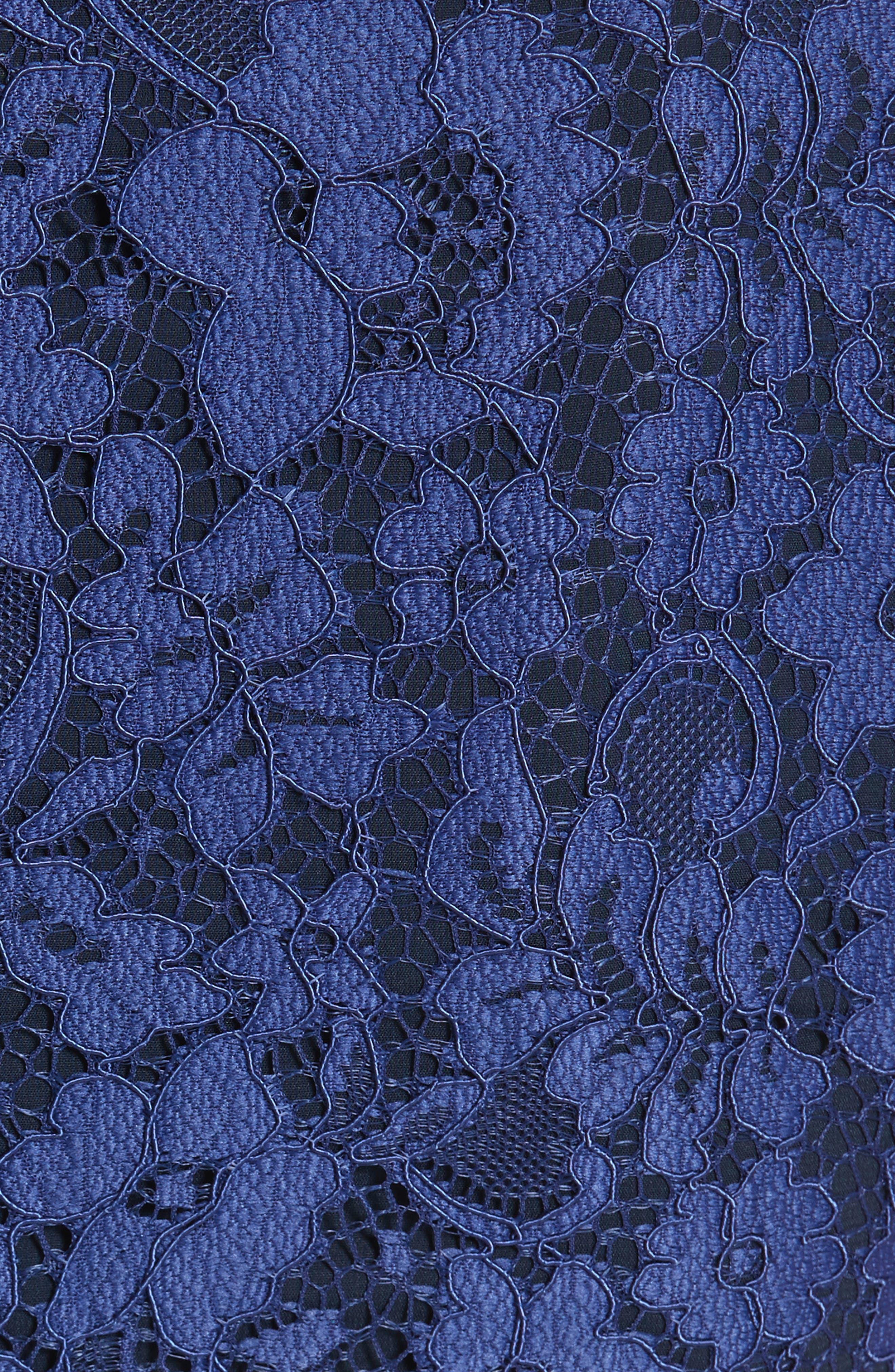 Mariam Lace Jumpsuit,                             Alternate thumbnail 5, color,                             Sapphire