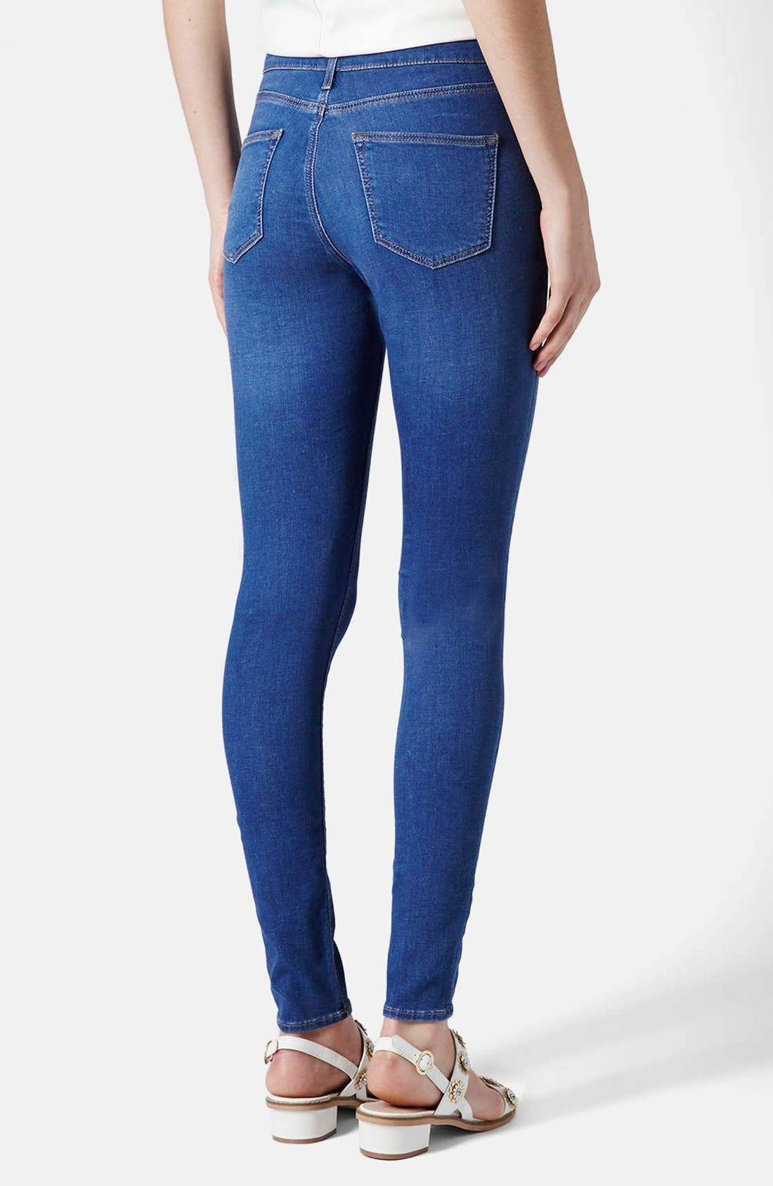 Alternate Image 2  - Topshop 'Leigh' Ankle Skinny Jeans (Mid Denim)