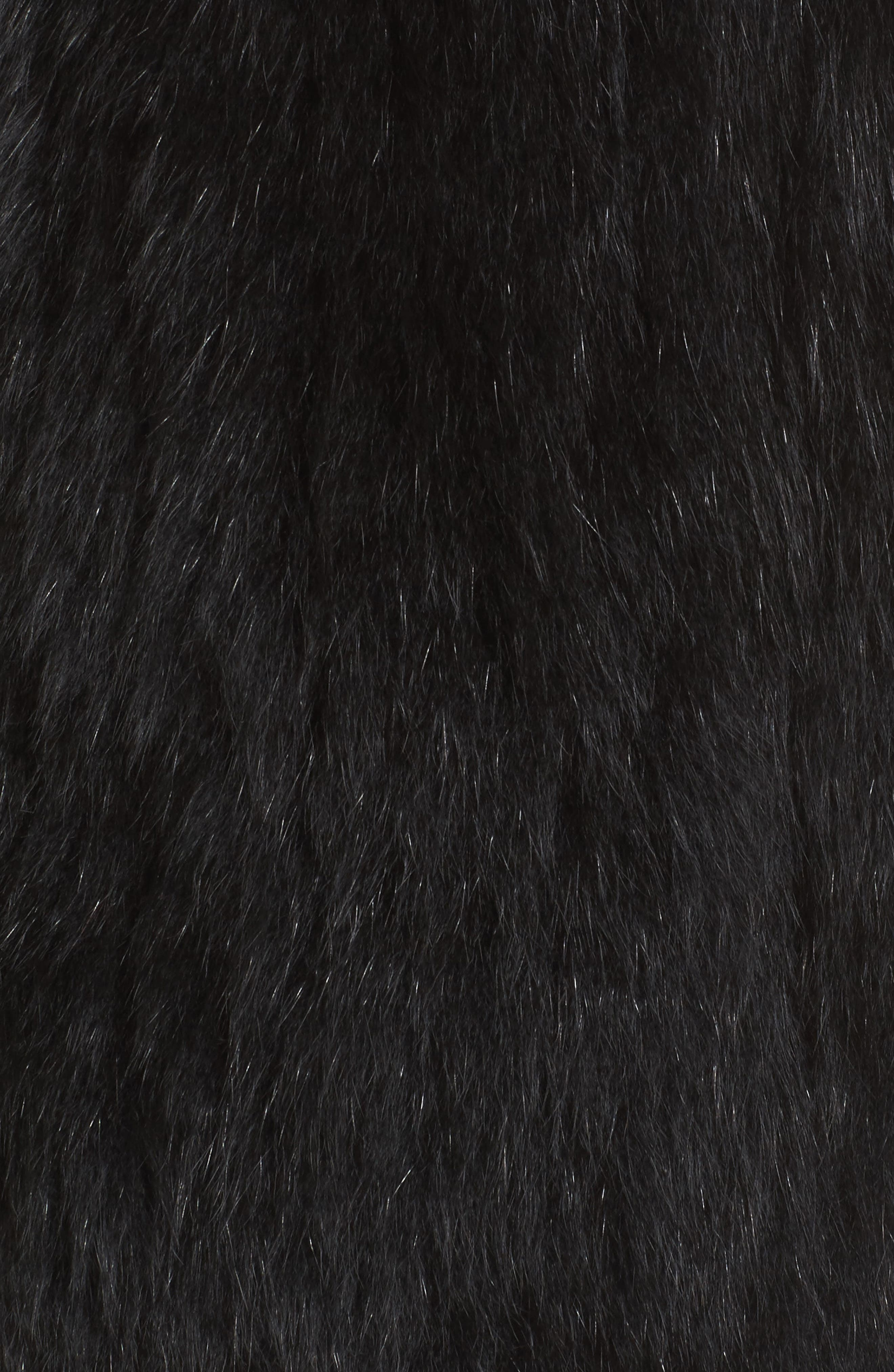 Genuine Fox Fur Vest,                             Alternate thumbnail 5, color,                             Black