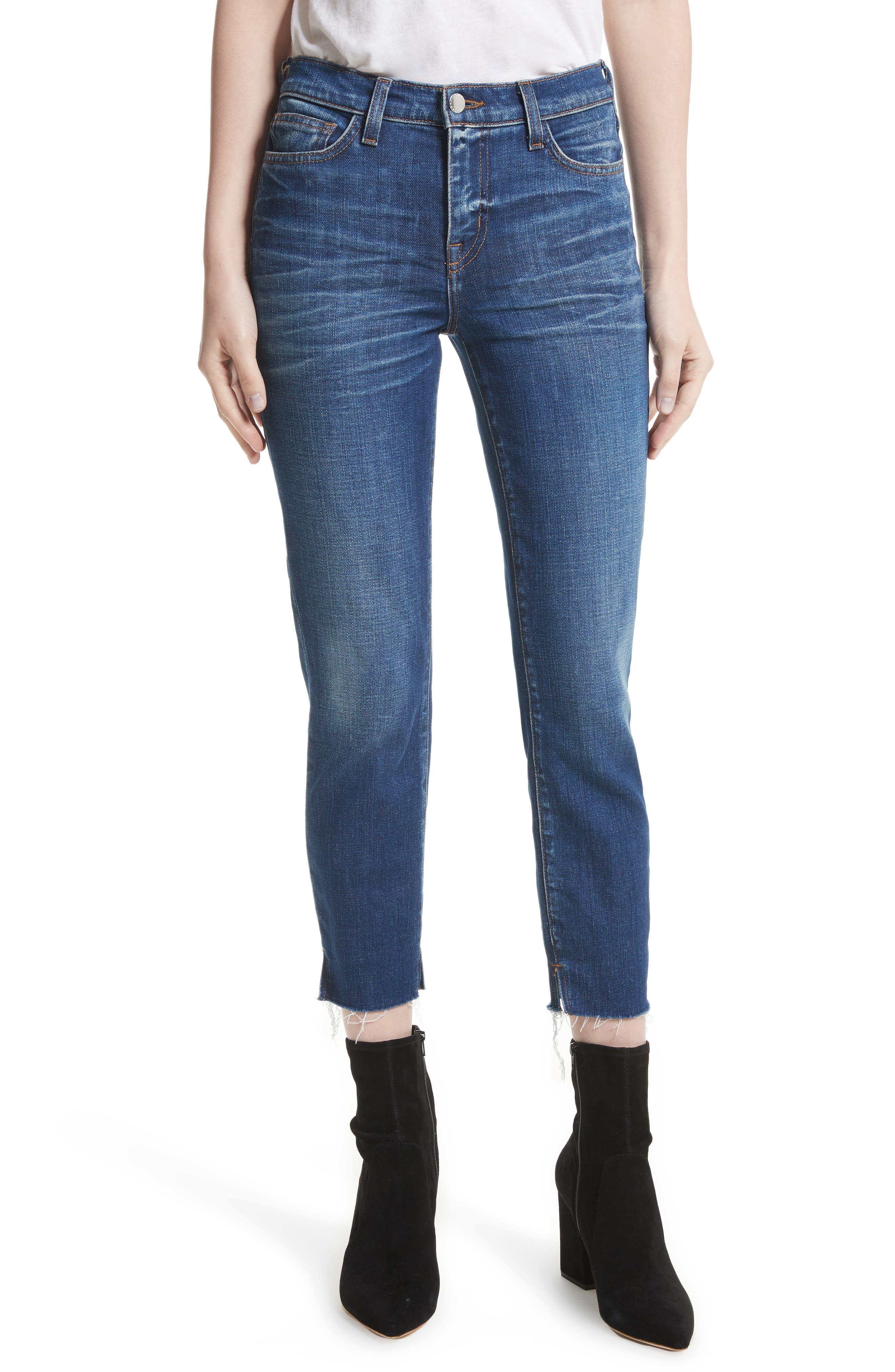 L'AGENCE Nicoline Slit Ankle Skinny Jeans