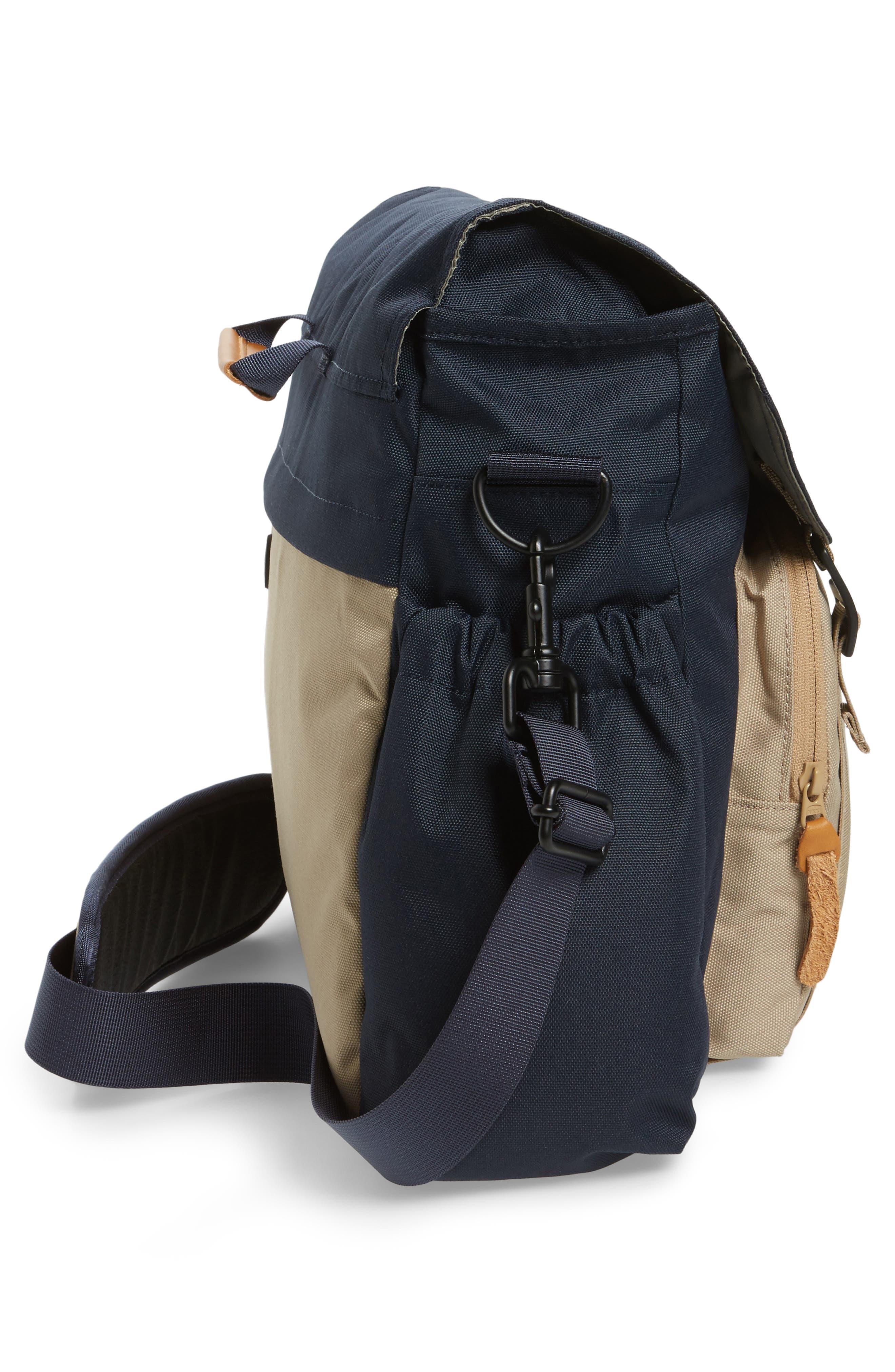 Crossridge Messenger Bag,                             Alternate thumbnail 5, color,                             Navy/ Tan