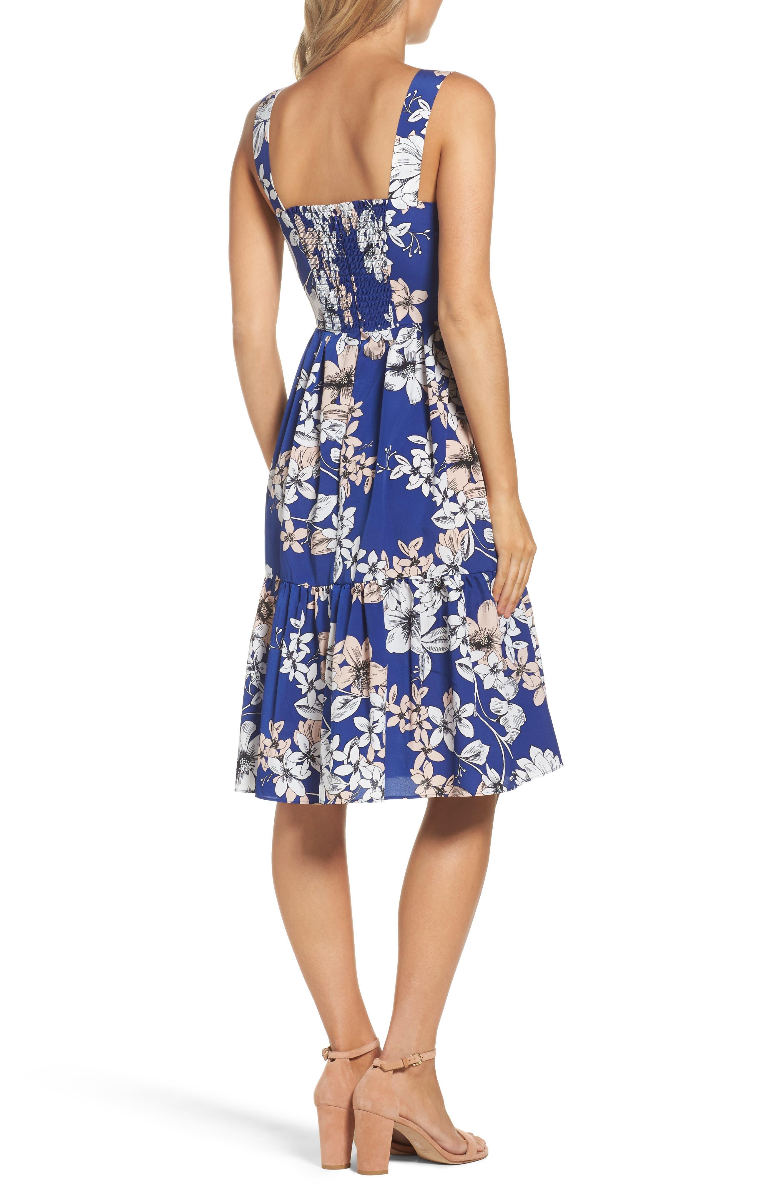 Alternate Image 2  - Eliza J Floral Print Fit & Flare Dress