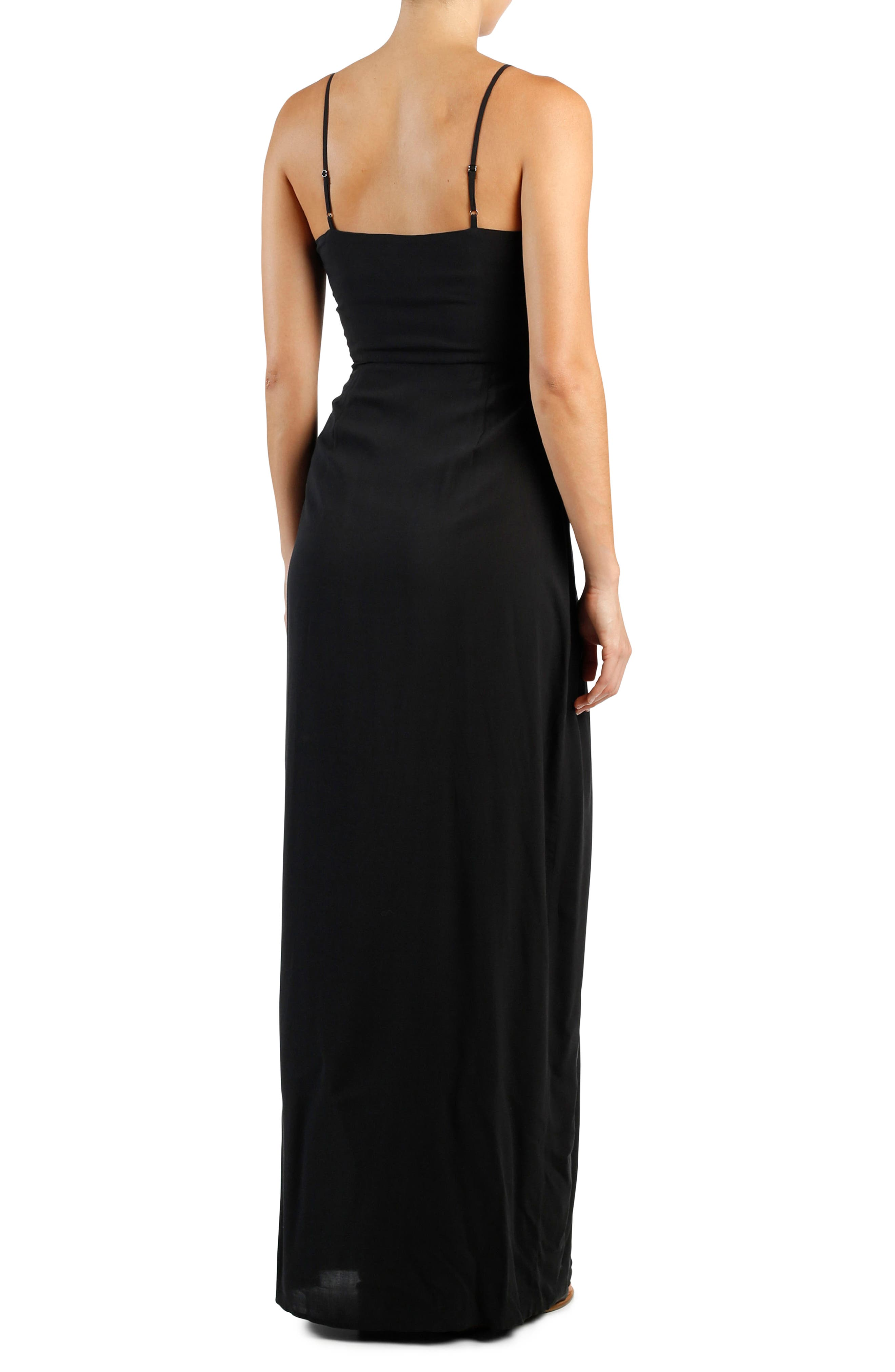Regina Maxi Dress,                             Alternate thumbnail 2, color,                             Black