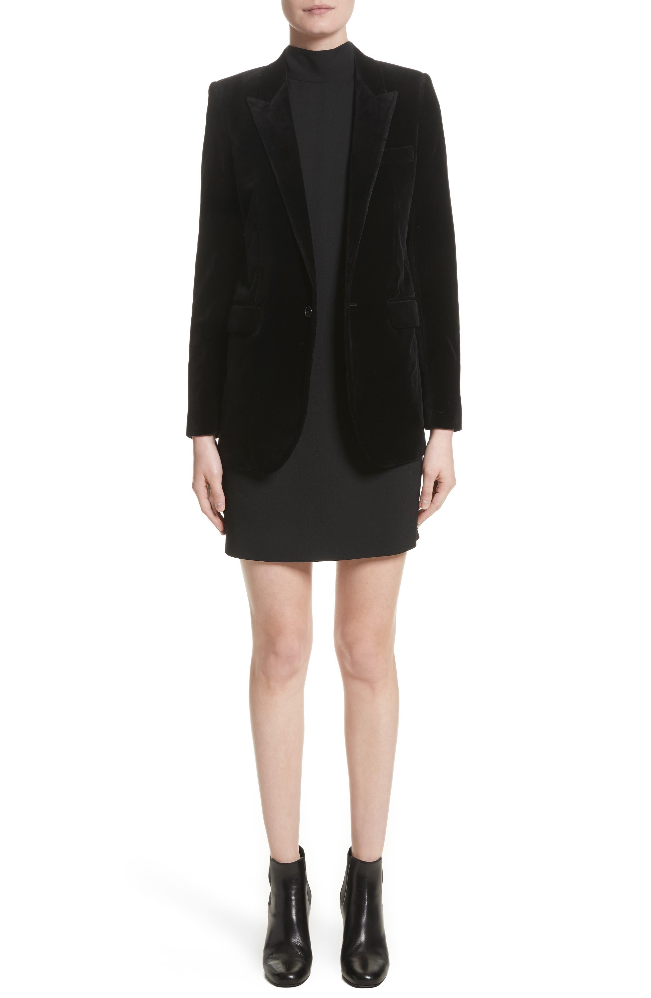 Alternate Image 1 Selected - Saint Laurent Velvet Blazer