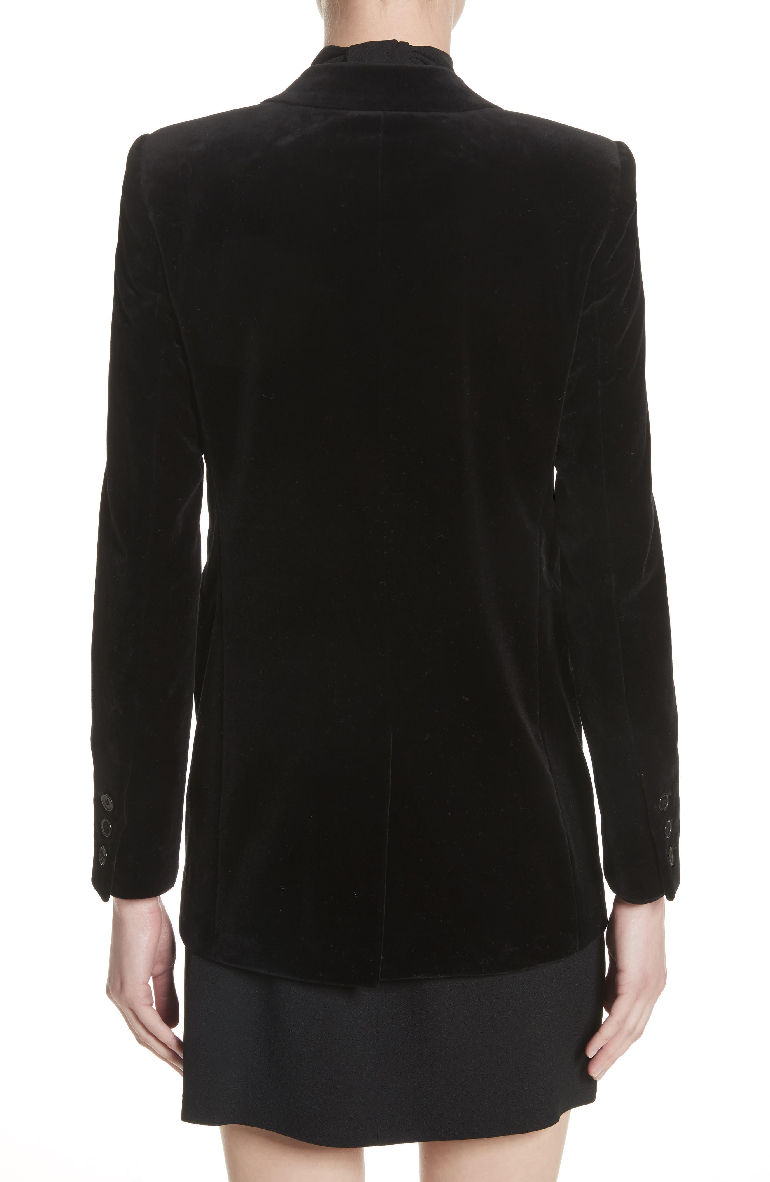 Alternate Image 2  - Saint Laurent Velvet Blazer