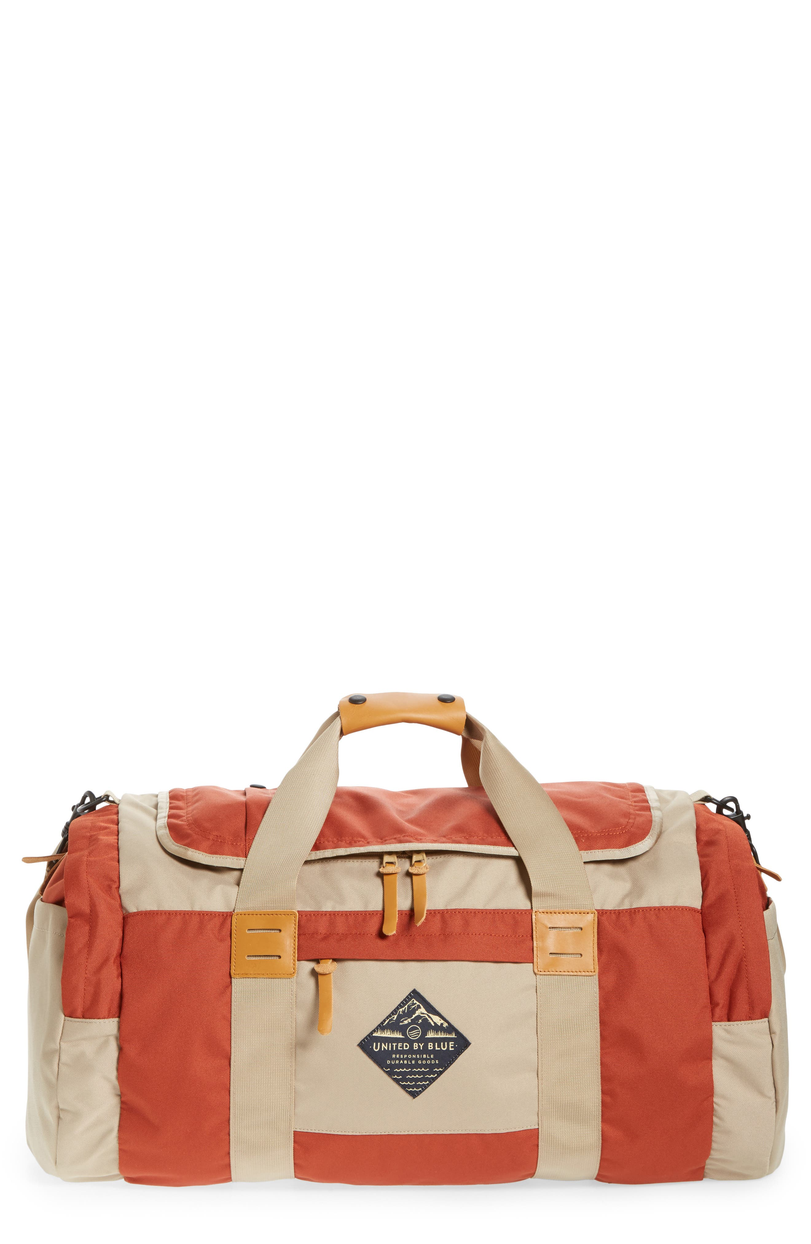Arc Duffel Bag,                             Main thumbnail 1, color,                             Rust/ Tan