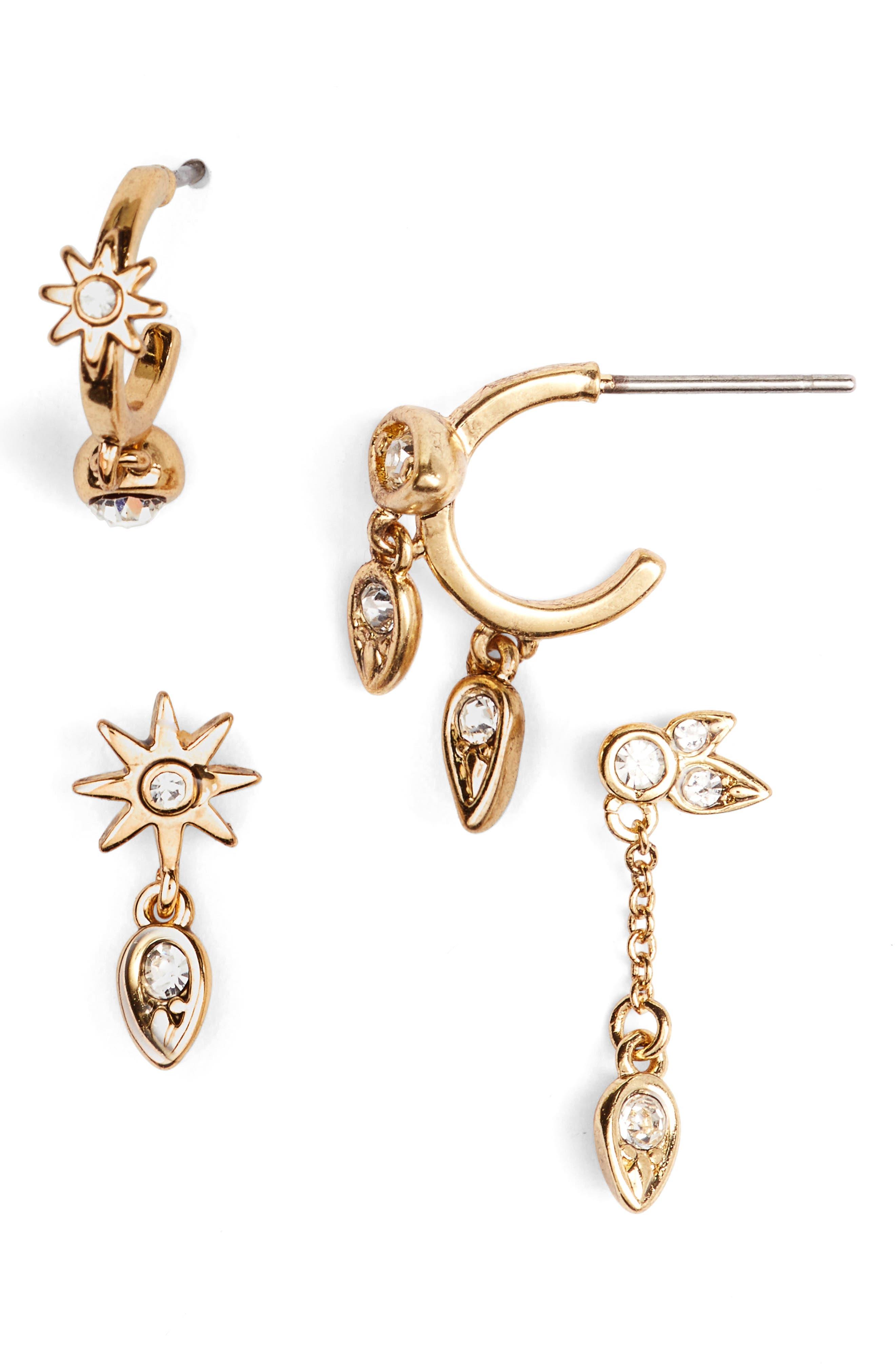 LUV AJ Mismatch Starburst Earrings