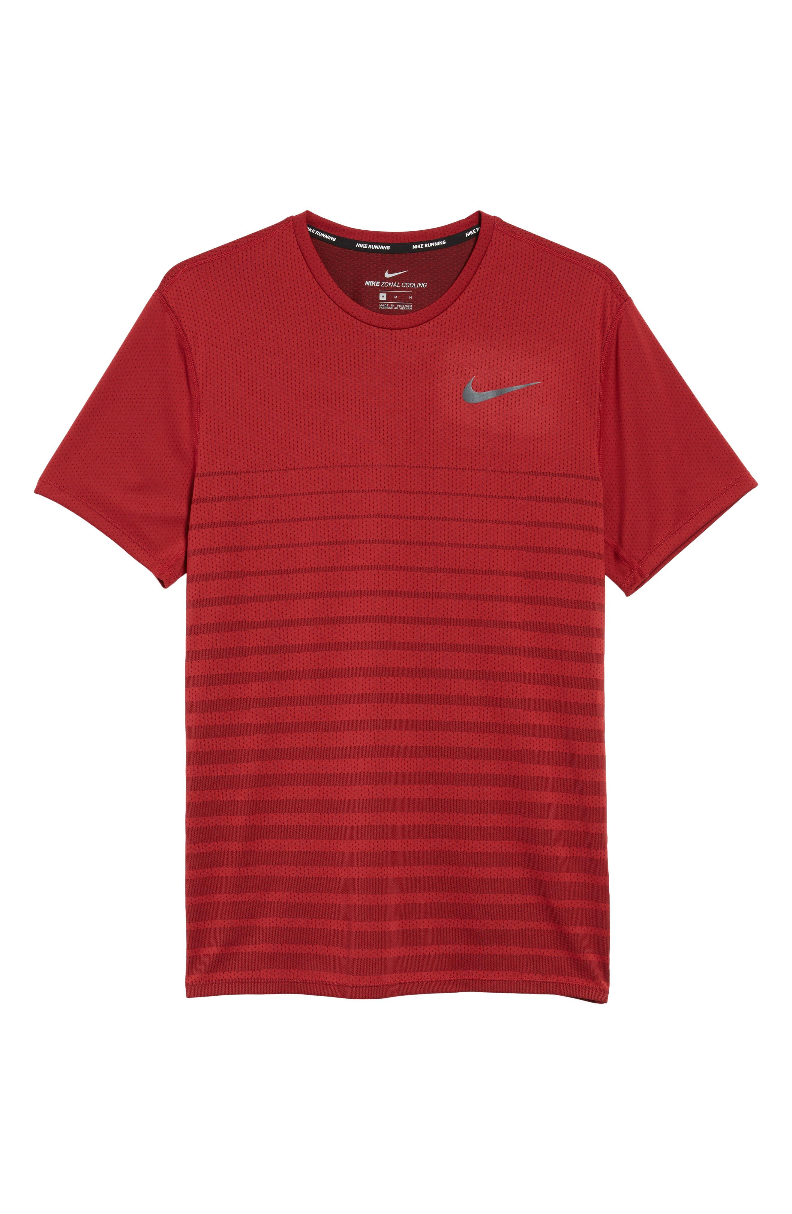 Alternate Image 6  - Nike Mesh Running T-Shirt