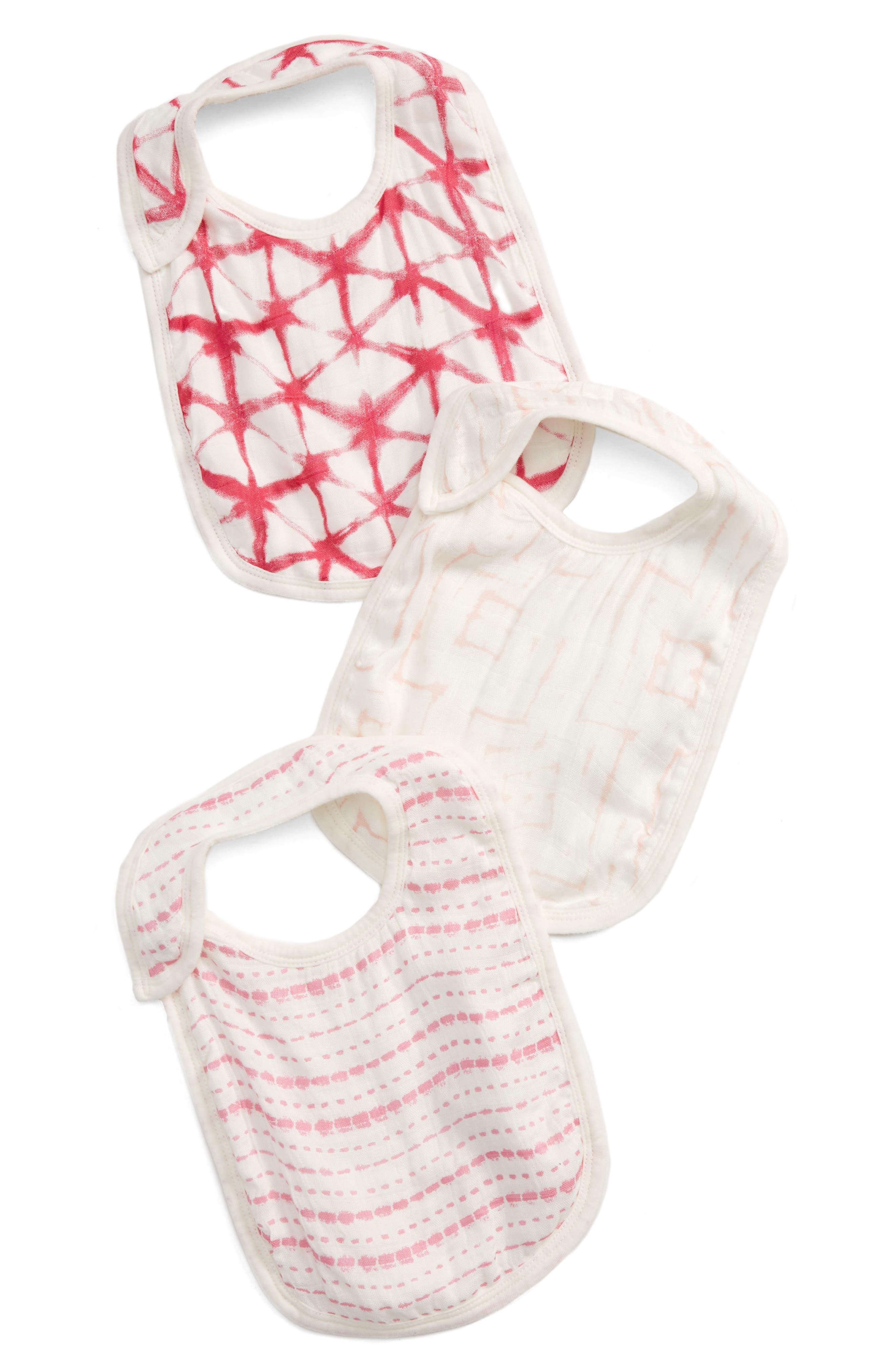 aden + anais 3-Pack Silky Soft Snap Bibs