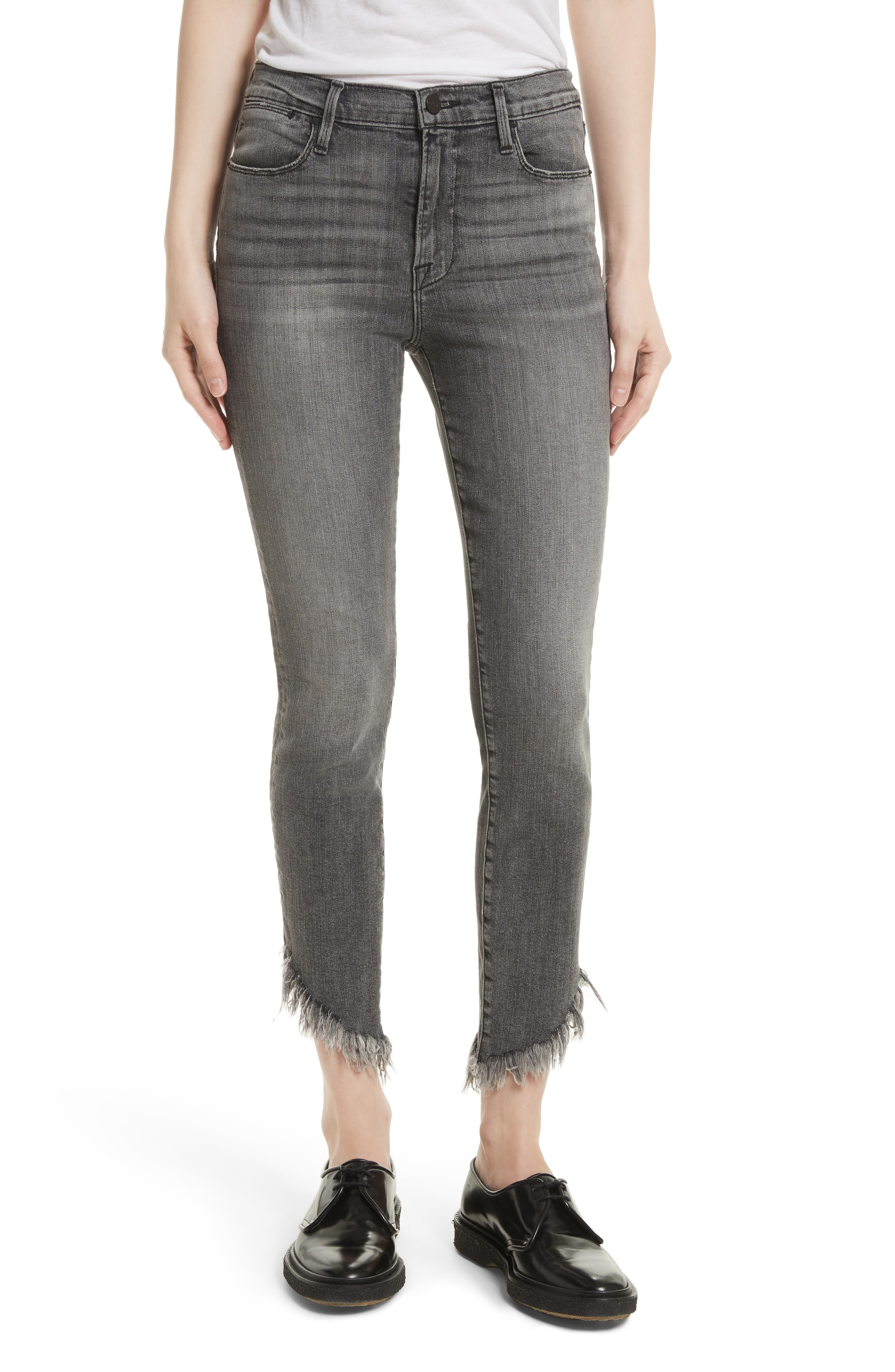 Alternate Image 1 Selected - FRAME Le High Shredded Skinny Jeans (Berwick)