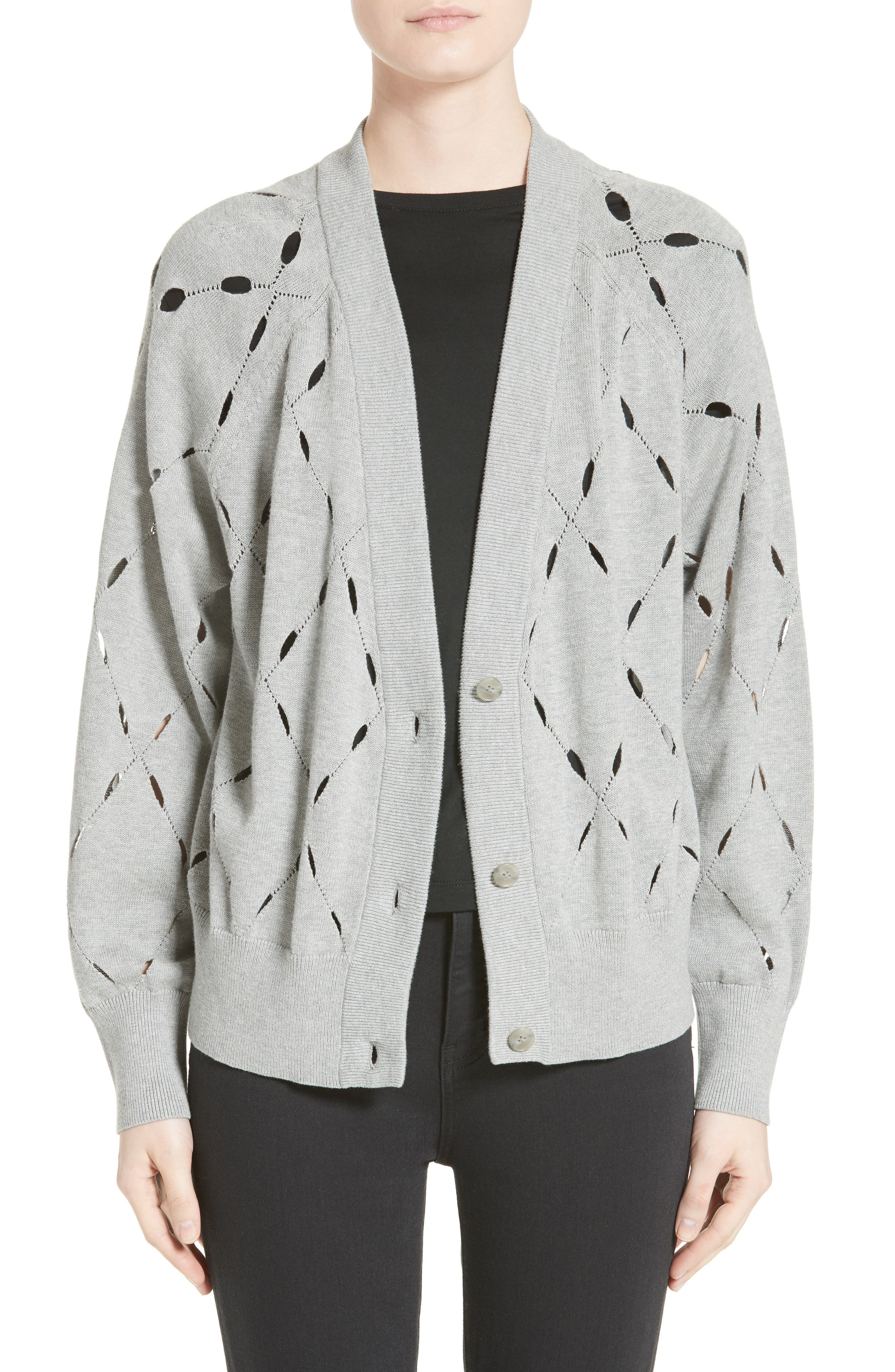 T by Alexander Wang Argyle Stitch Cardigan