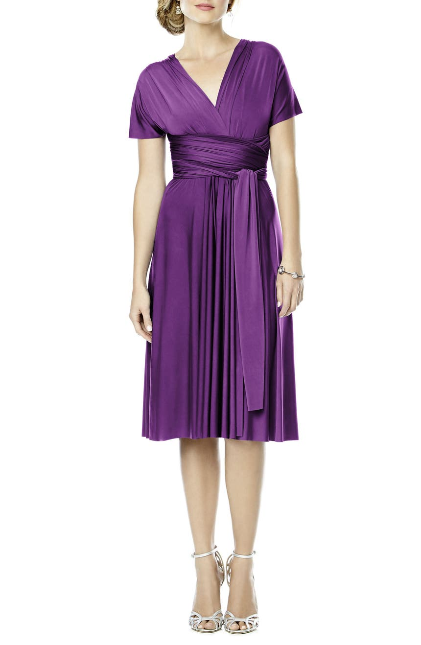 Dessy Collection Convertible Wrap Tie Surplice Jersey Dress | Nordstrom