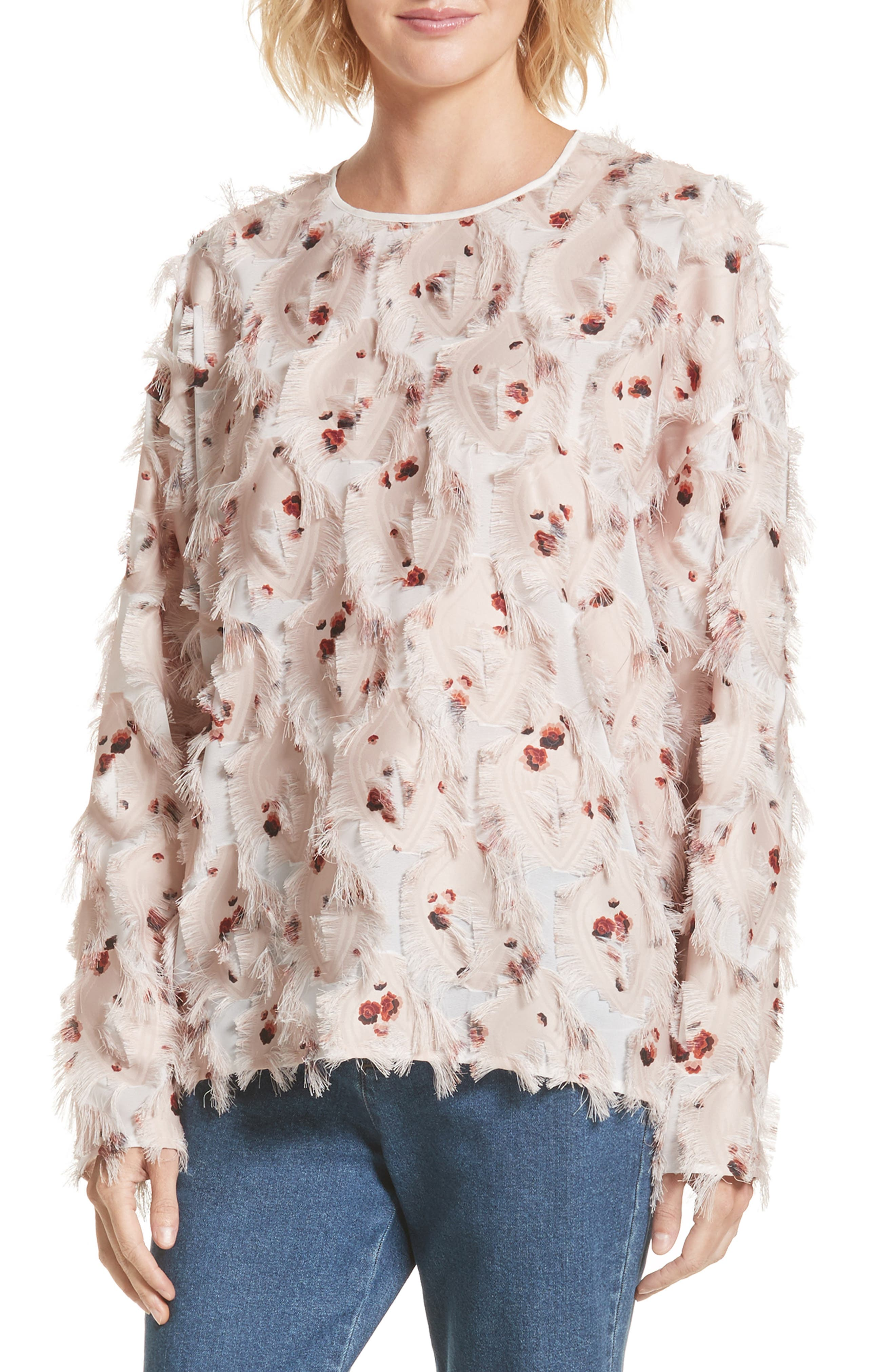Main Image - See by Chloé Feather Jacquard Blouse