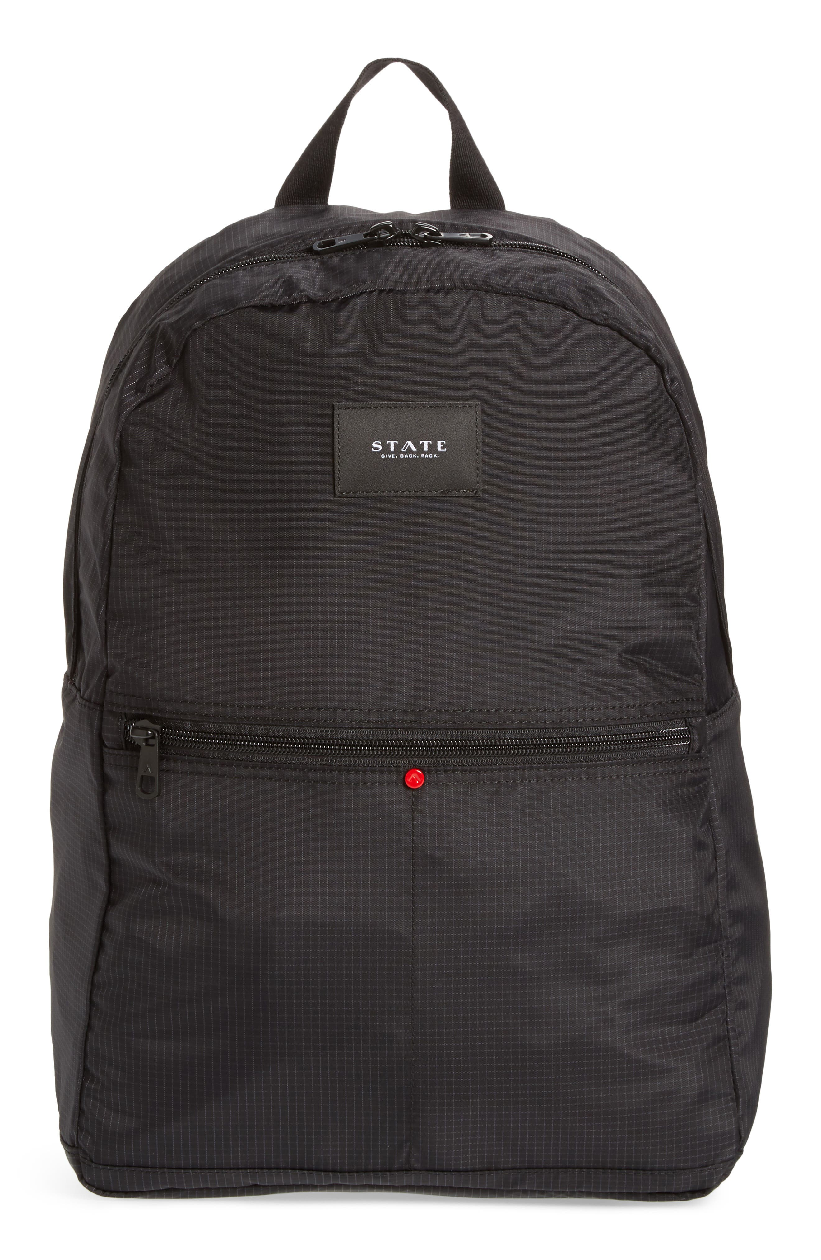 STATE Wyckoff Marshall Laptop Ripstop Backpack,                         Main,                         color, Black