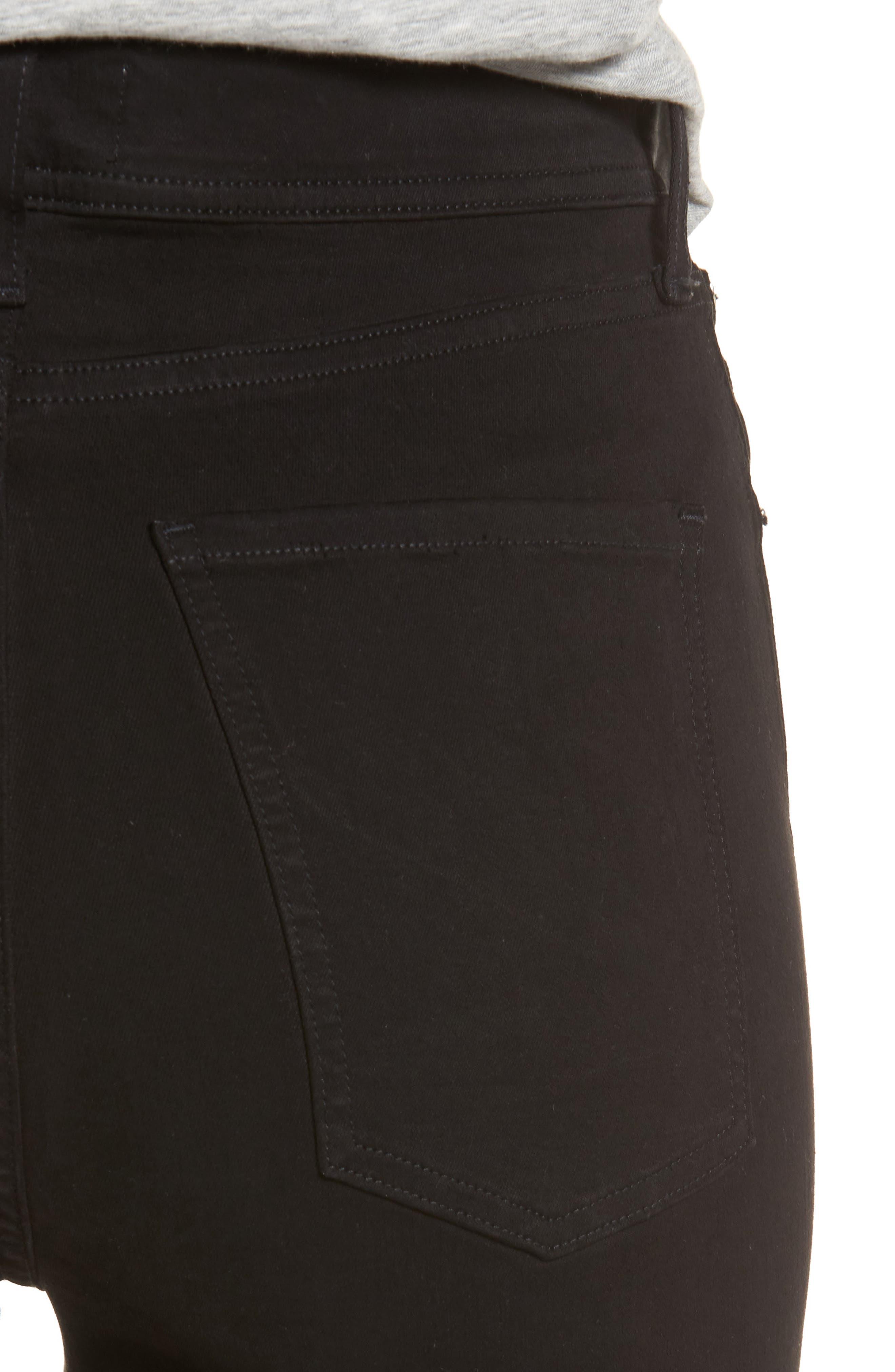 Roxanne Super High Rise Skinny Jeans,                             Alternate thumbnail 4, color,                             Jet