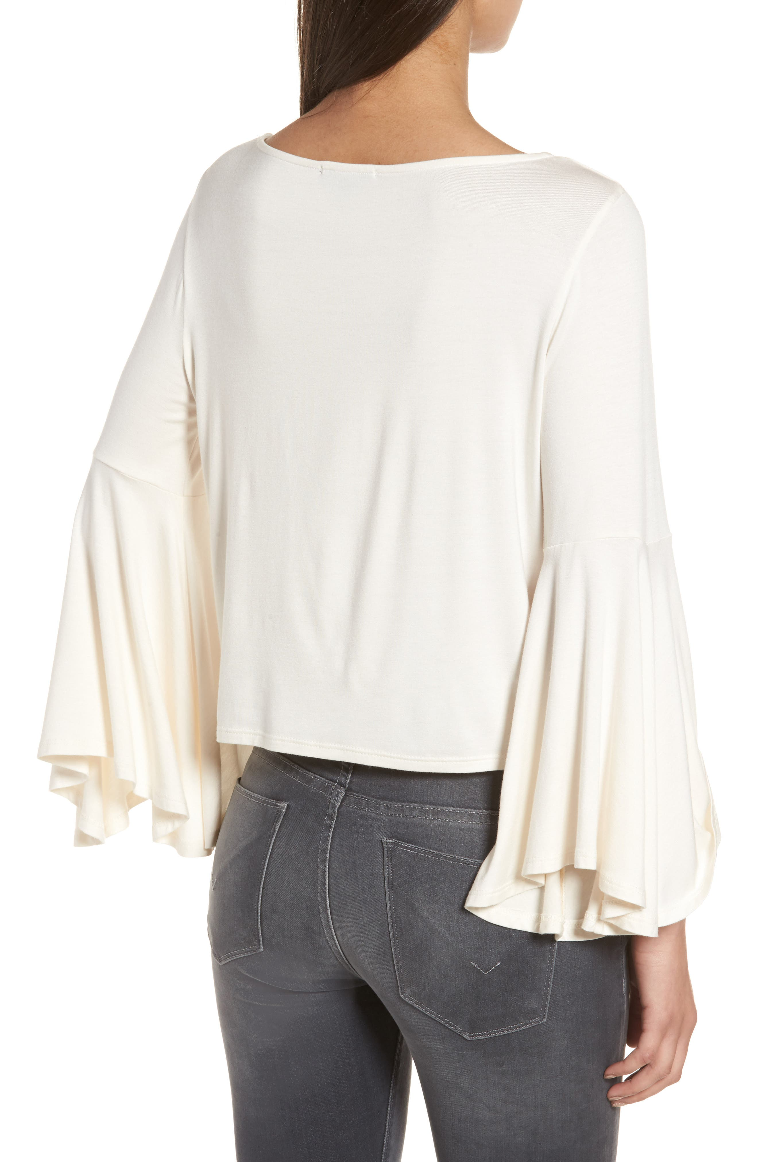 Bella Bell Sleeve Top,                             Alternate thumbnail 2, color,                             Natural