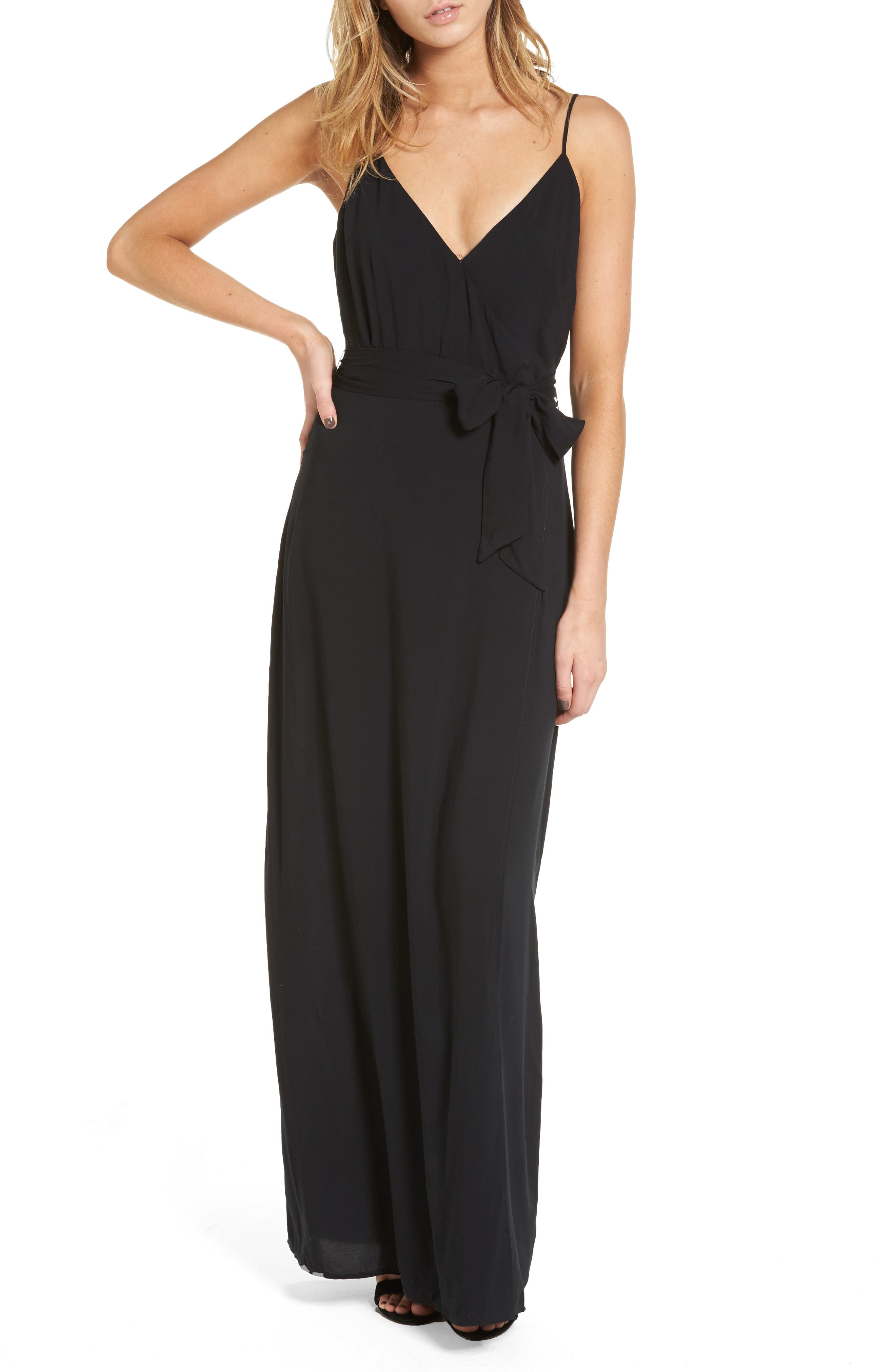 Regina Maxi Dress,                         Main,                         color, Black