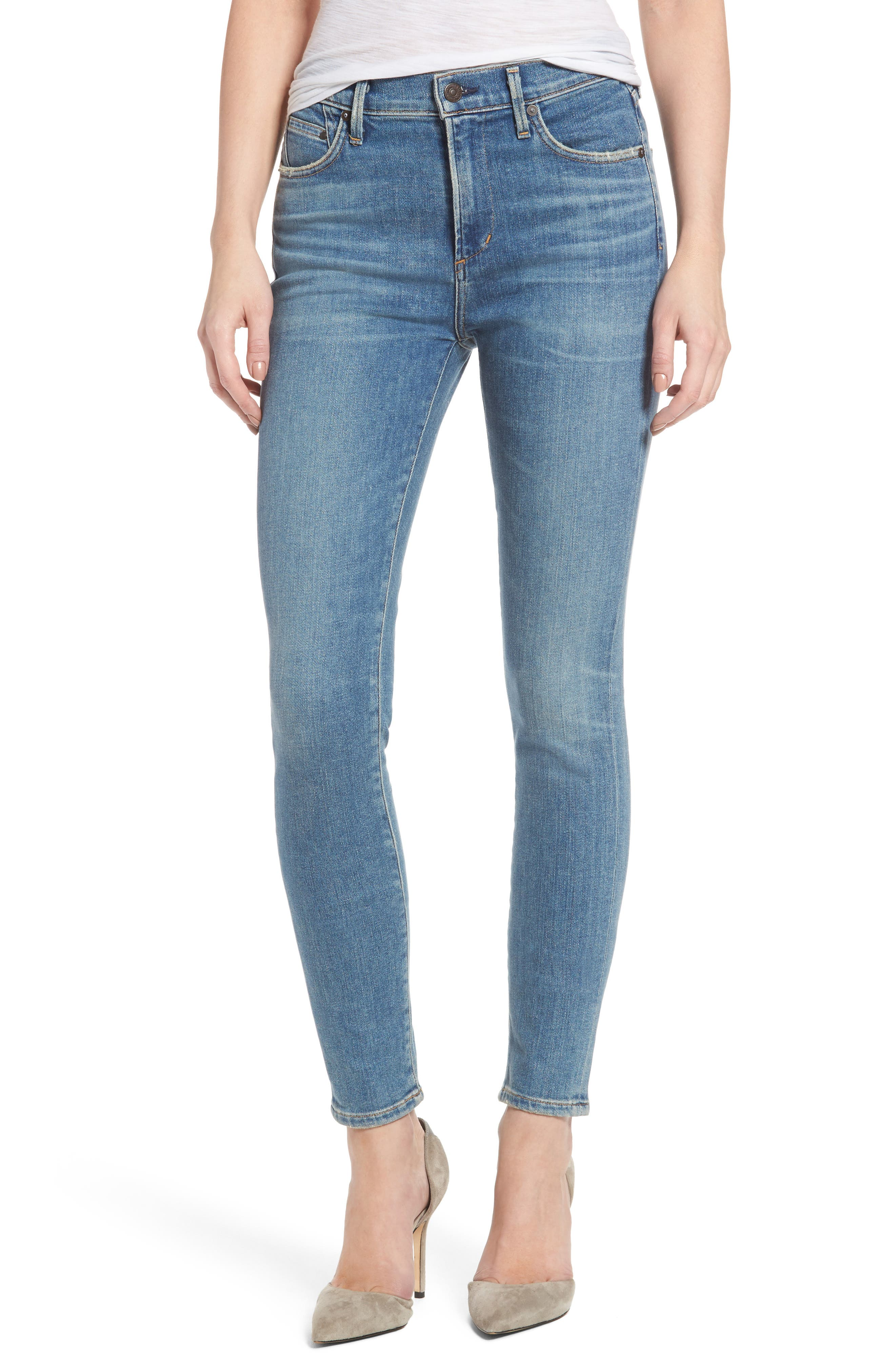 Alternate Image 1 Selected - Citizens of Humanity Rocket High Waist Skinny Jeans (Reyes)