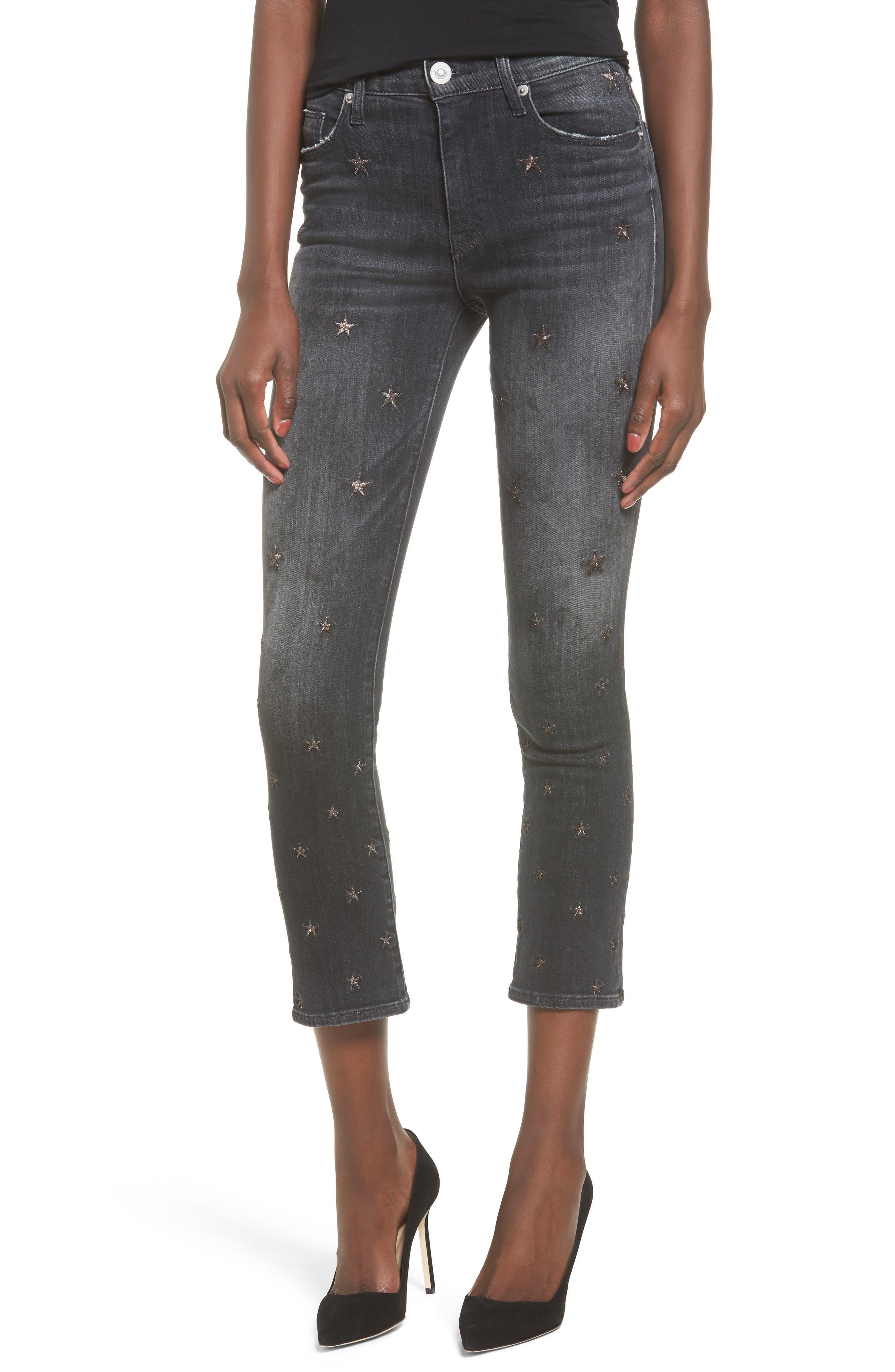 Hudson Harper High Waist Crop Baby Boot Jeans (Night Star)