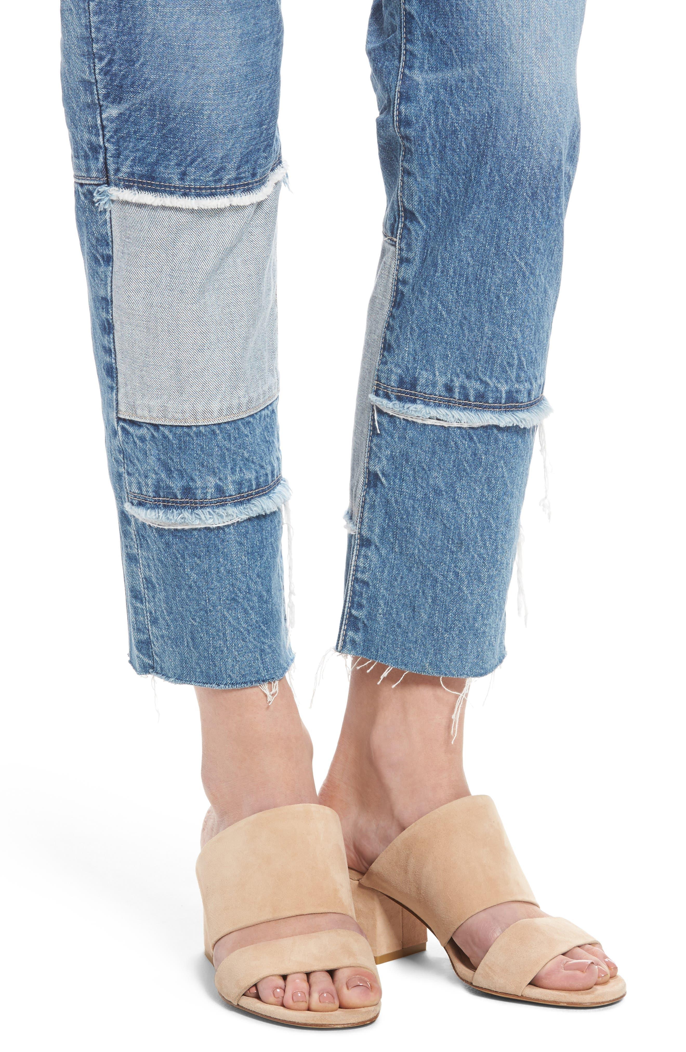 Alternate Image 4  - AG The Ex-Boyfriend Crop Slim Jeans (18 Years Blue Mosque)