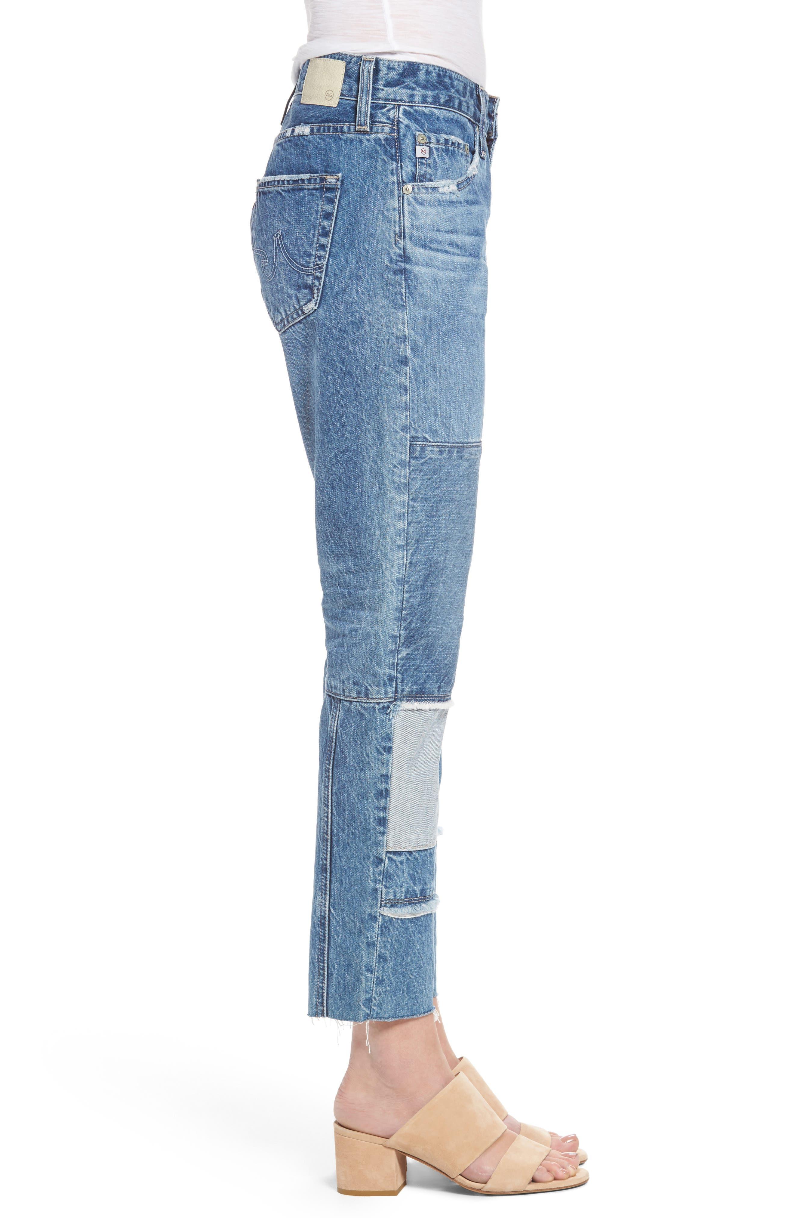 Alternate Image 3  - AG The Ex-Boyfriend Crop Slim Jeans (18 Years Blue Mosque)