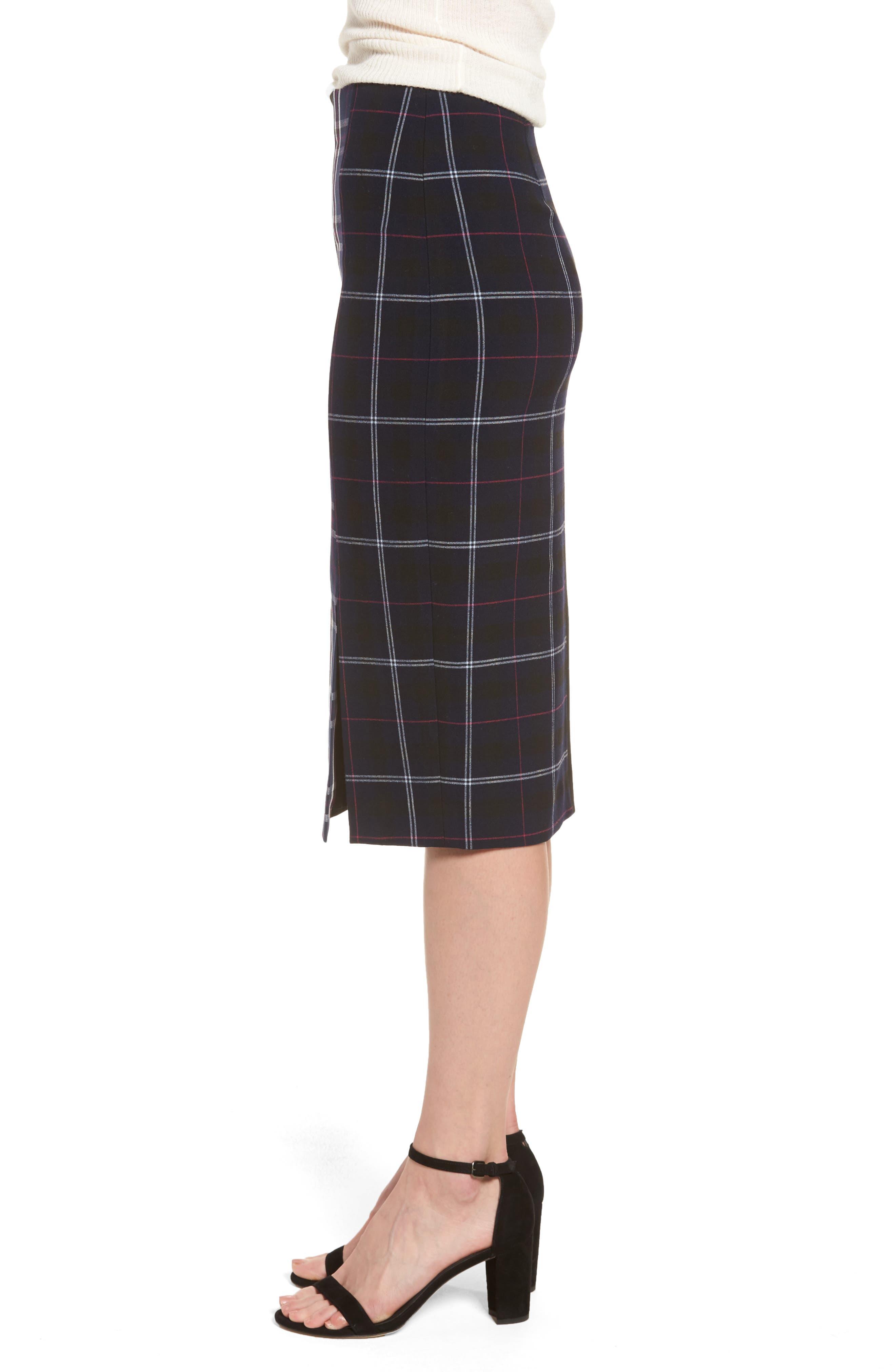 Alternate Image 3  - Halogen® Mixed Plaid Pencil Skirt