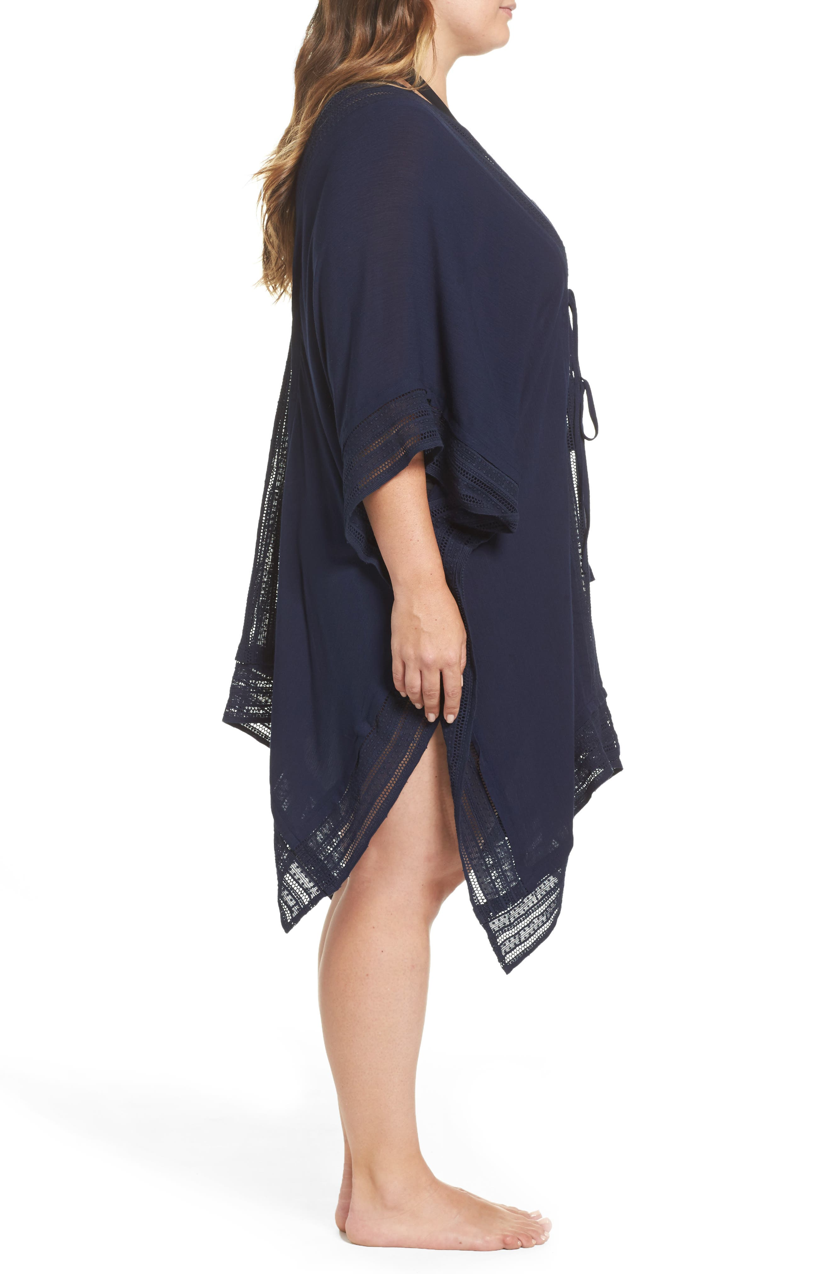 Serendipity Cover-Up Tunic,                             Alternate thumbnail 3, color,                             Navy