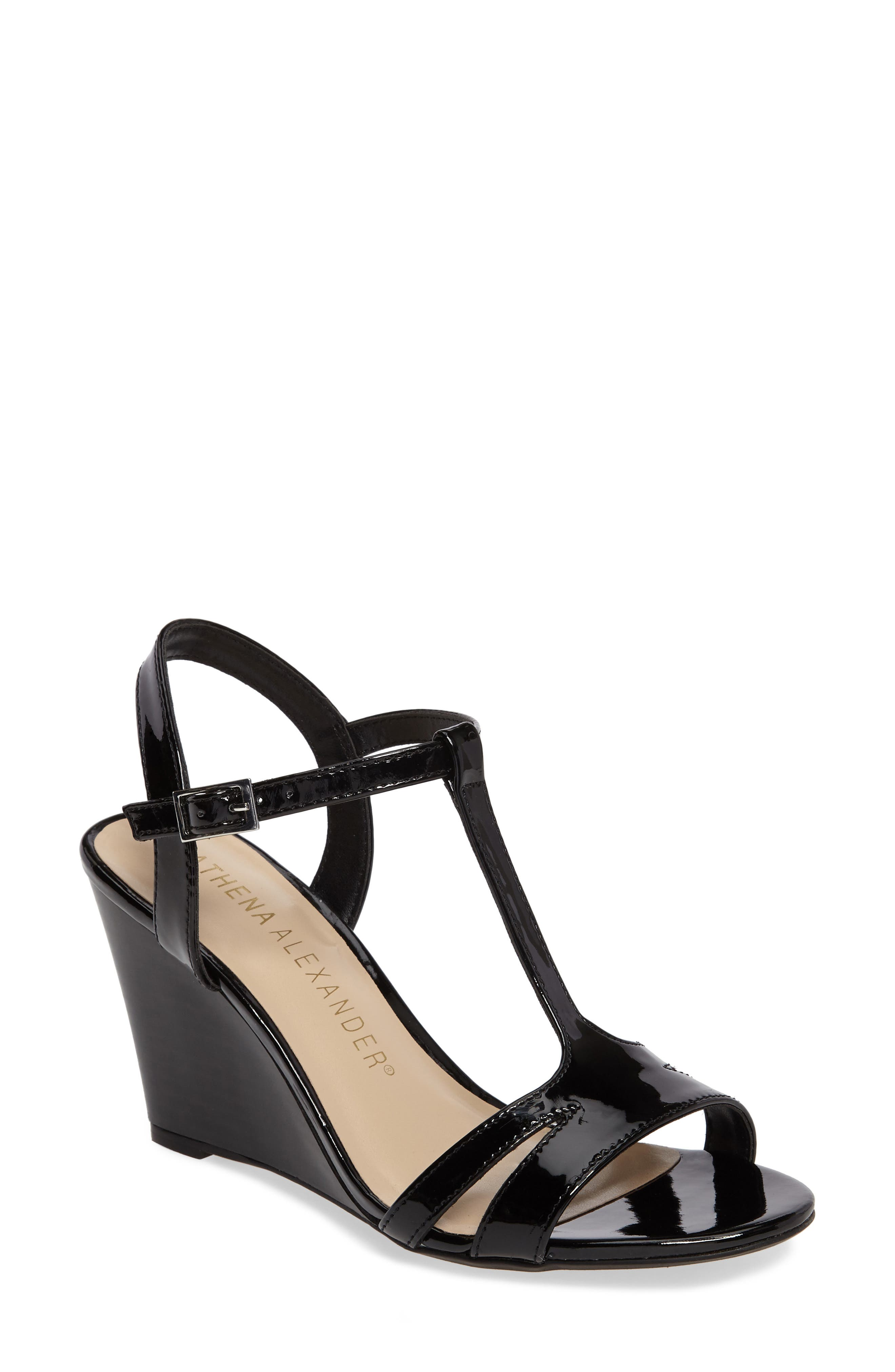 Athena Alexander Andres Wedge T-Strap Sandal (Women)