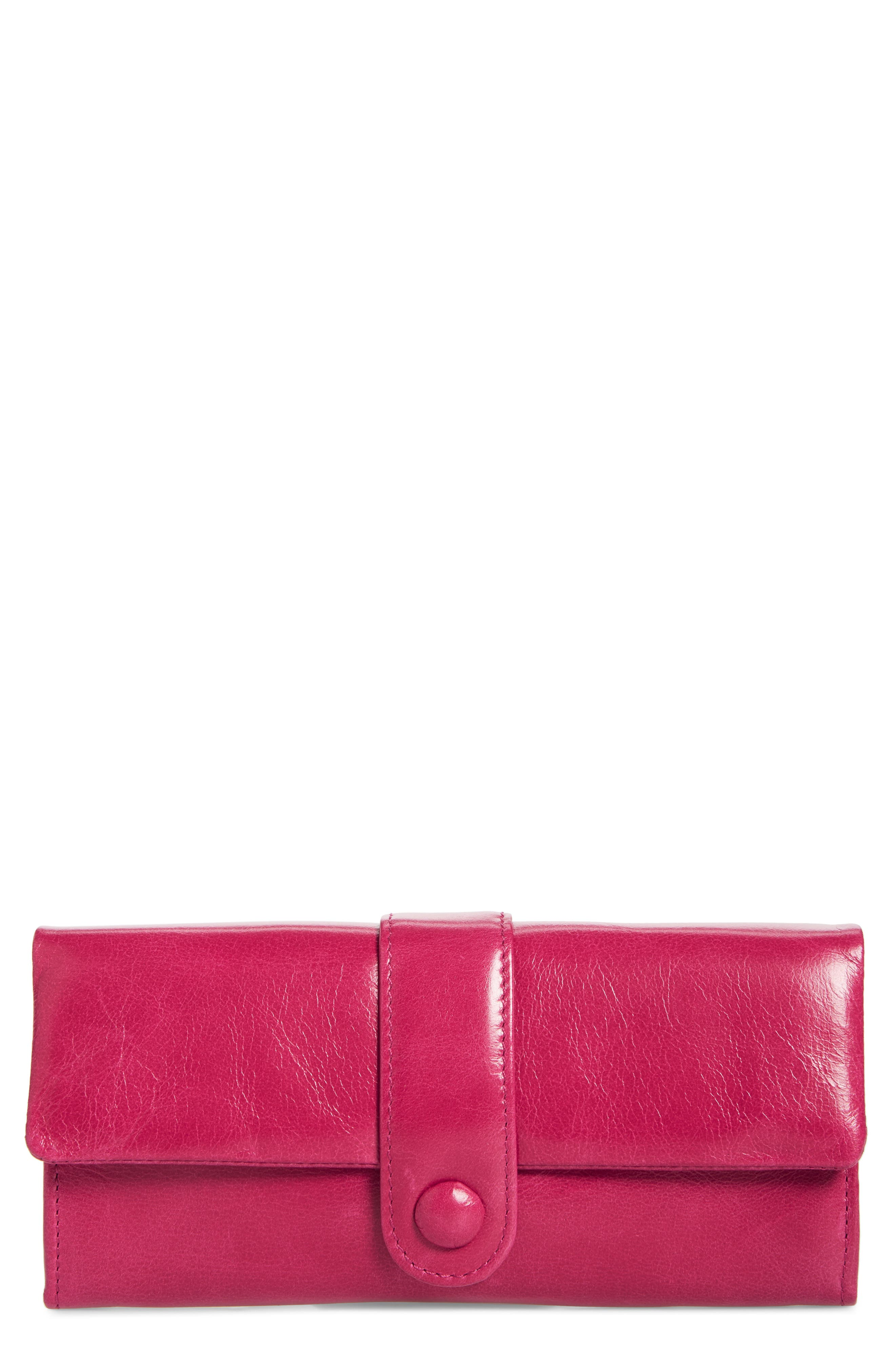 Lex Continental Leather Wallet,                             Main thumbnail 1, color,                             Fuchsia