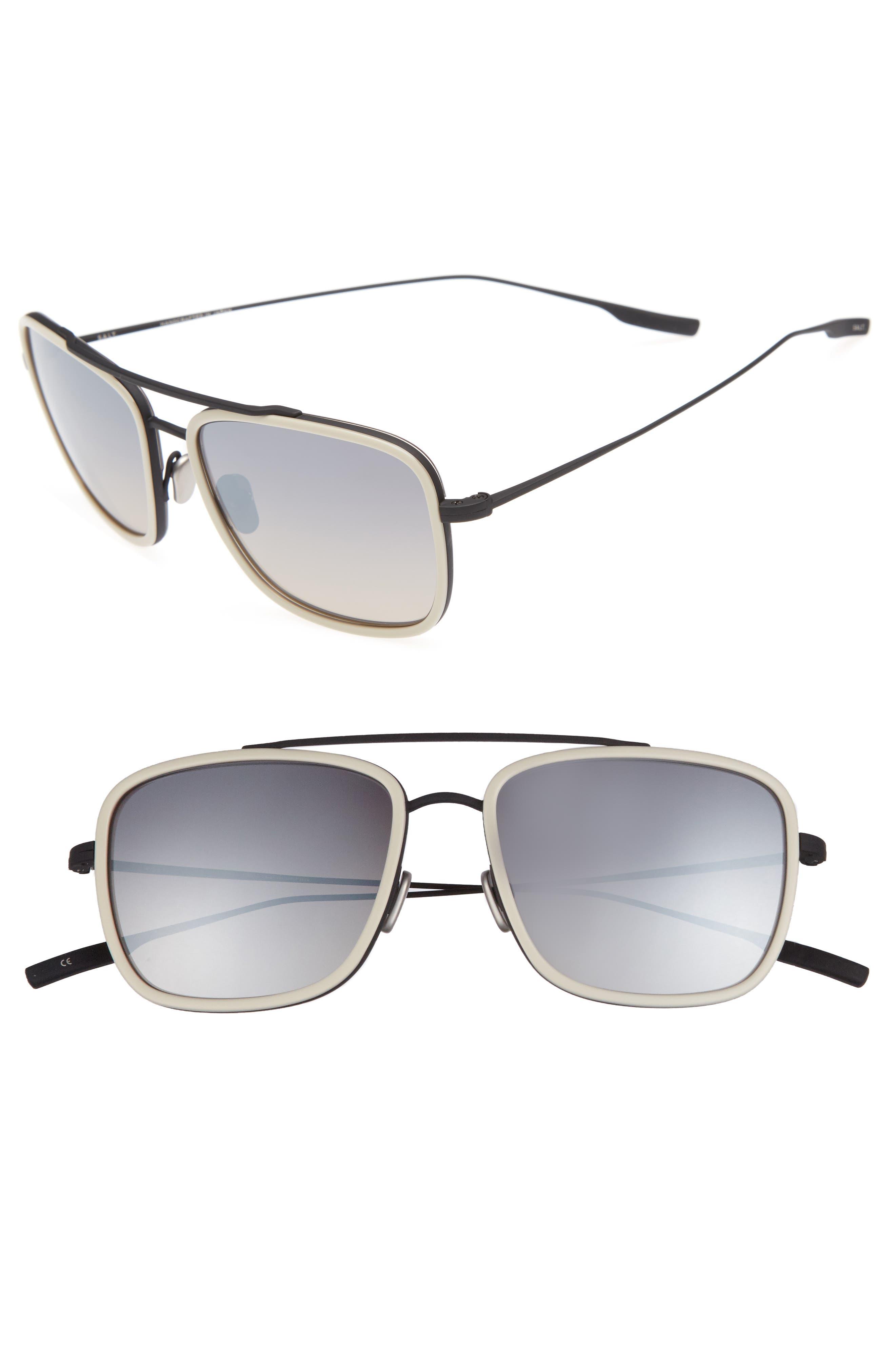 Harrison 54mm Polarized Sunglasses,                         Main,                         color, Black Sand/ Oyster Grey