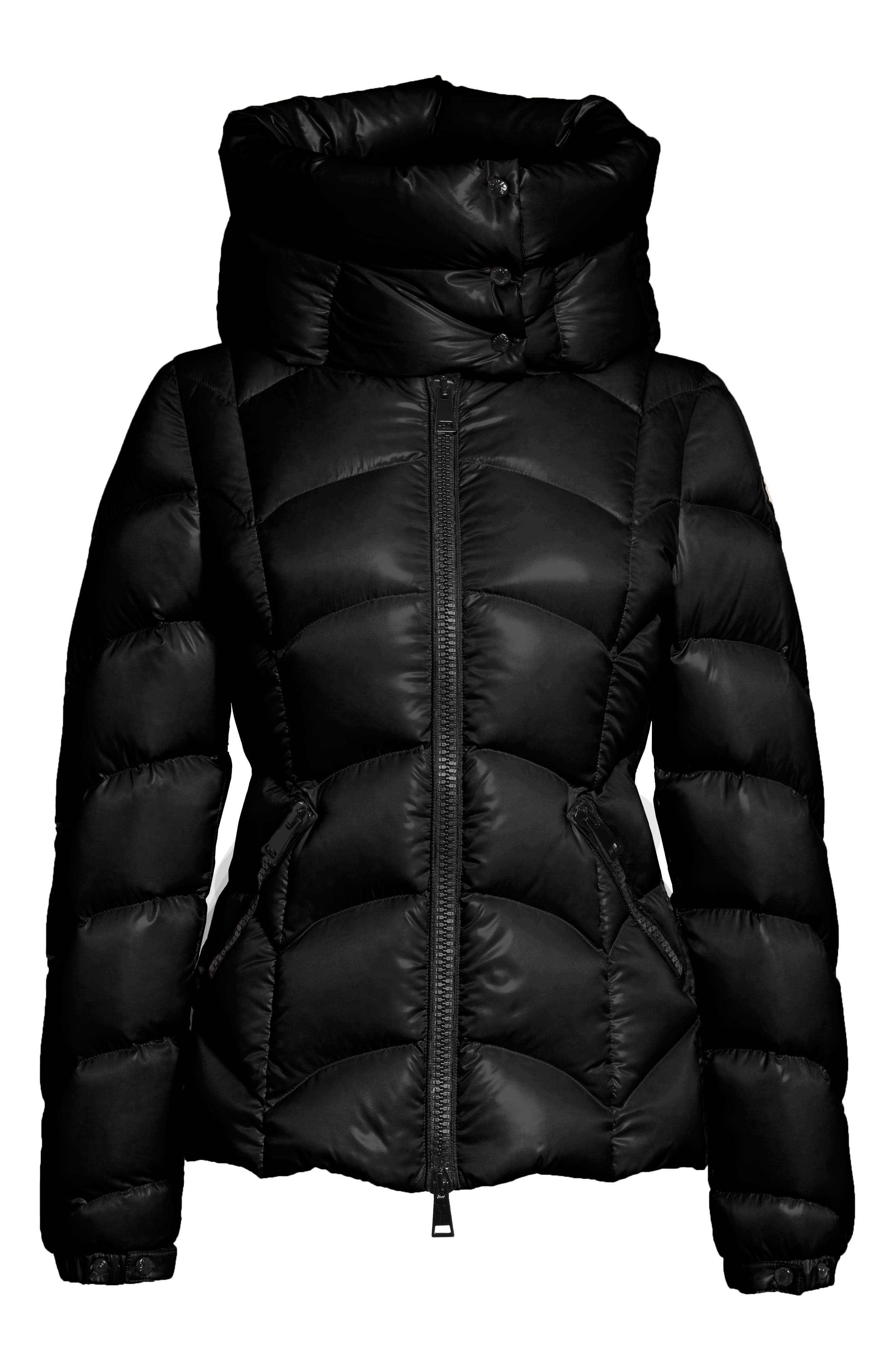 Akebia Quilted Down Jacket,                             Alternate thumbnail 6, color,                             Black