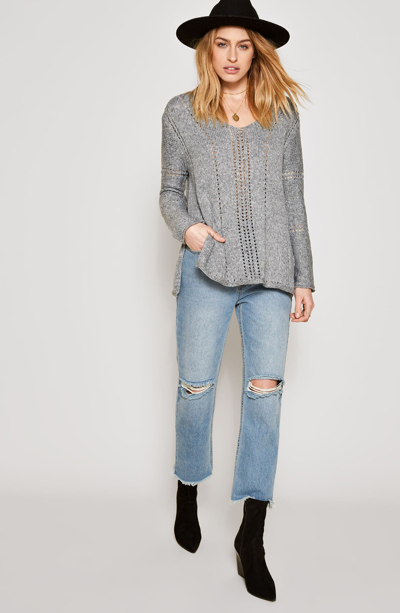 Rickerson Sweater,                             Alternate thumbnail 2, color,                             Heather Grey