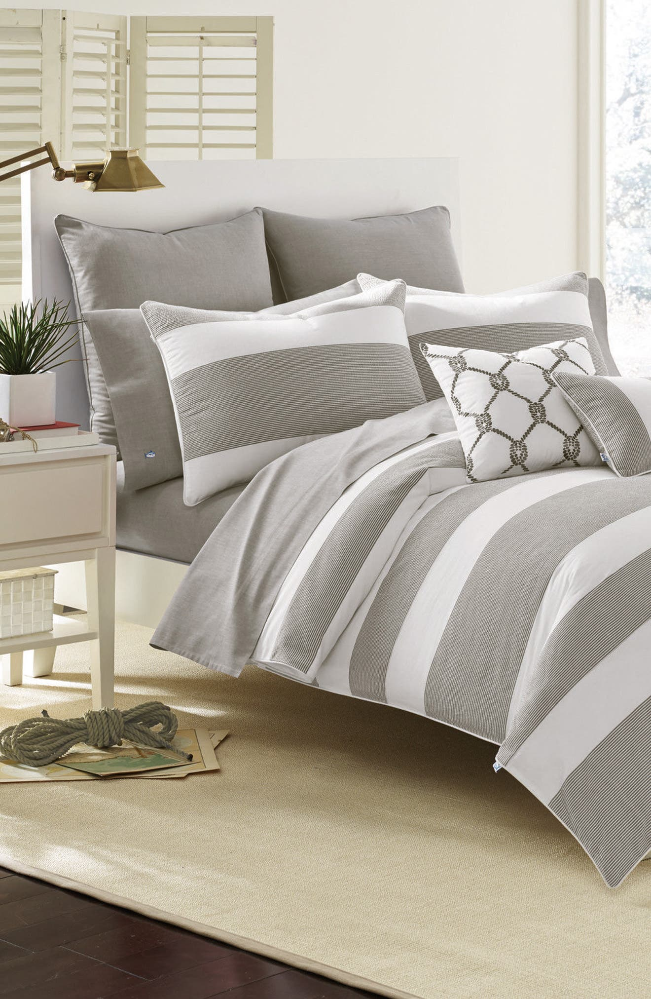 Breakwater Nautical Comforter & Sham Set,                             Main thumbnail 1, color,                             Nautical Grey