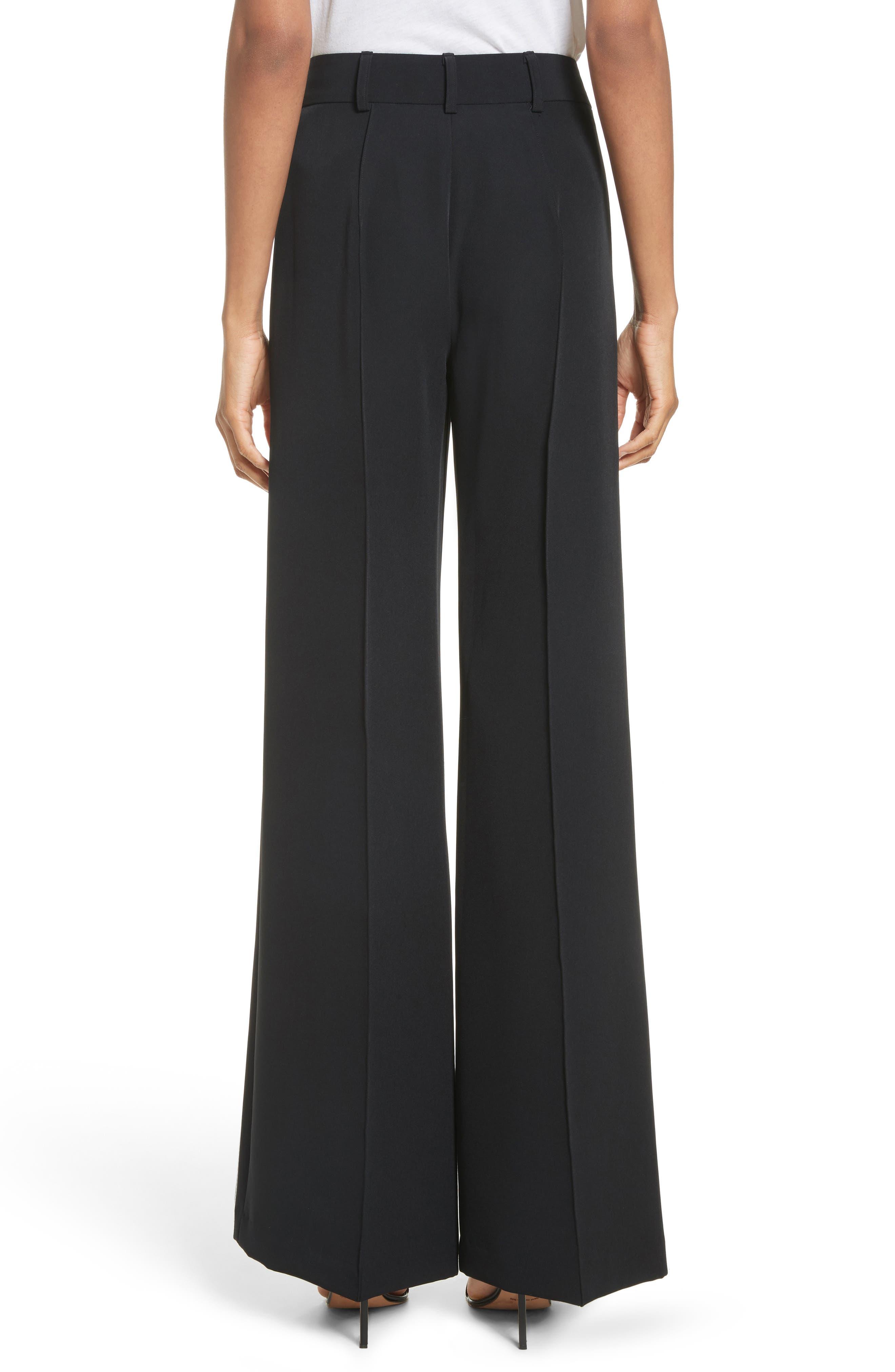 'Hayden' Wide Leg Trousers,                             Alternate thumbnail 2, color,                             Black