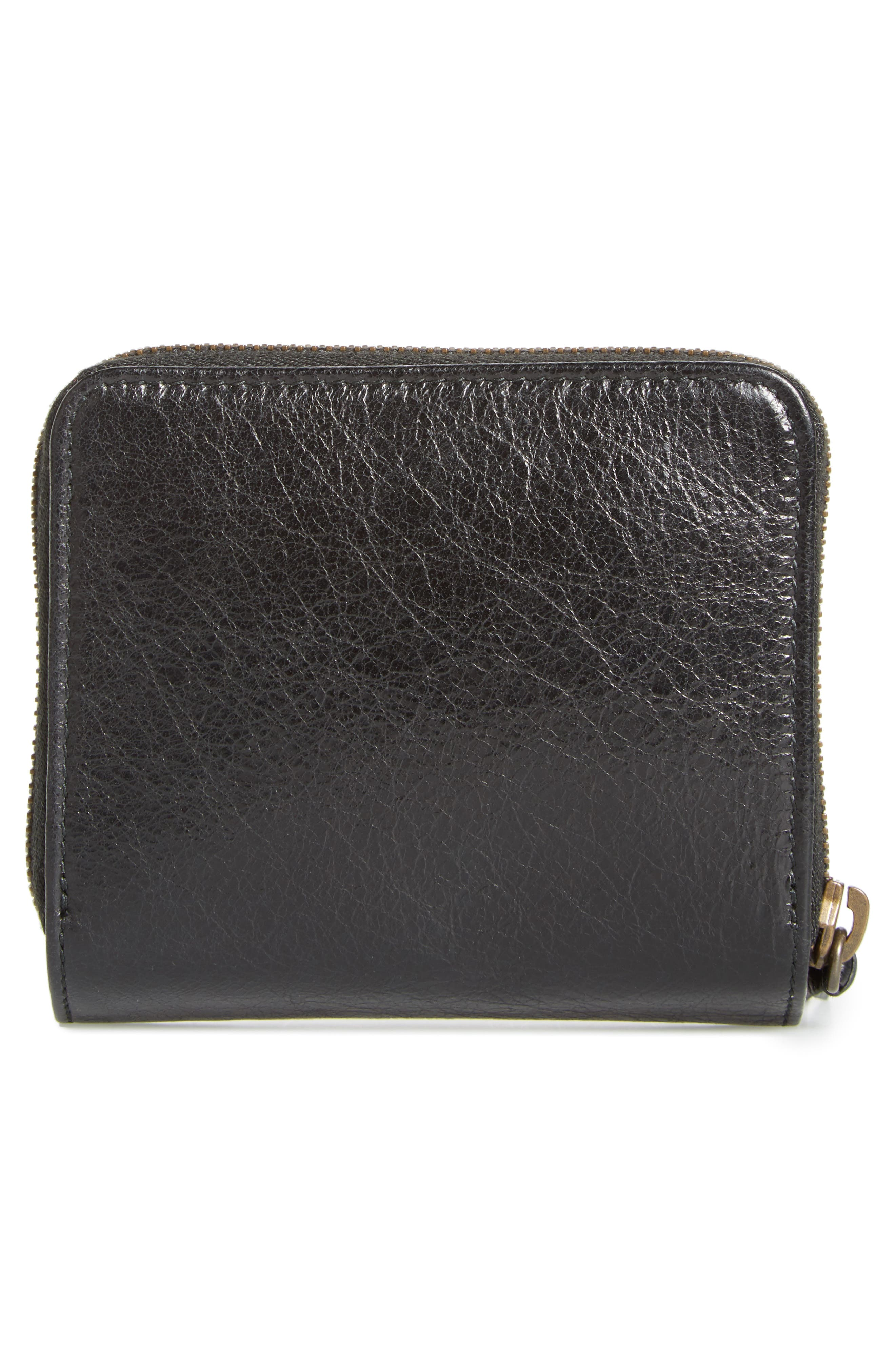 Classic Leather Bifold Wallet,                             Alternate thumbnail 4, color,                             1000 Nero