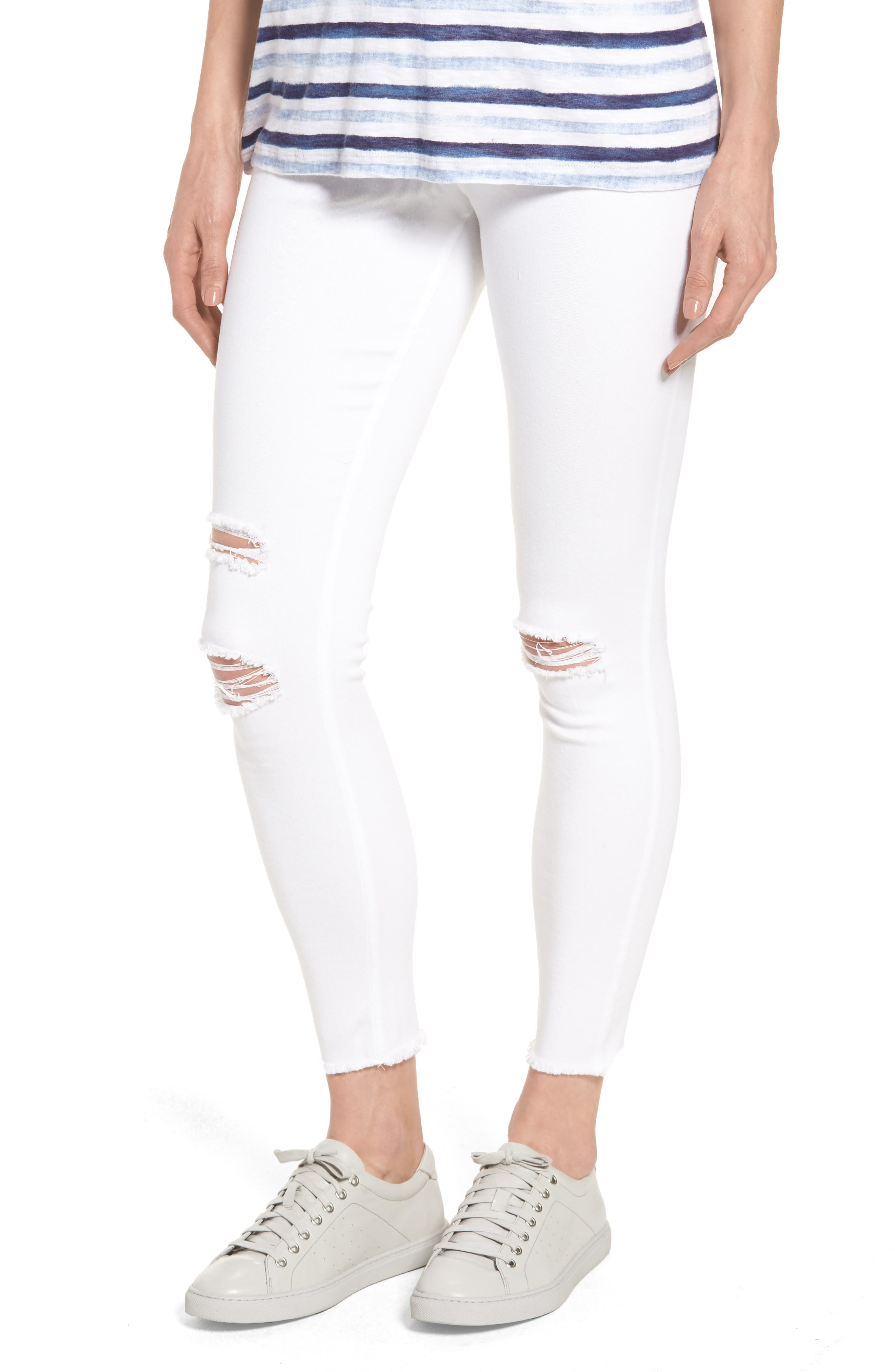Hue Ripped Denim Skimmer Leggings