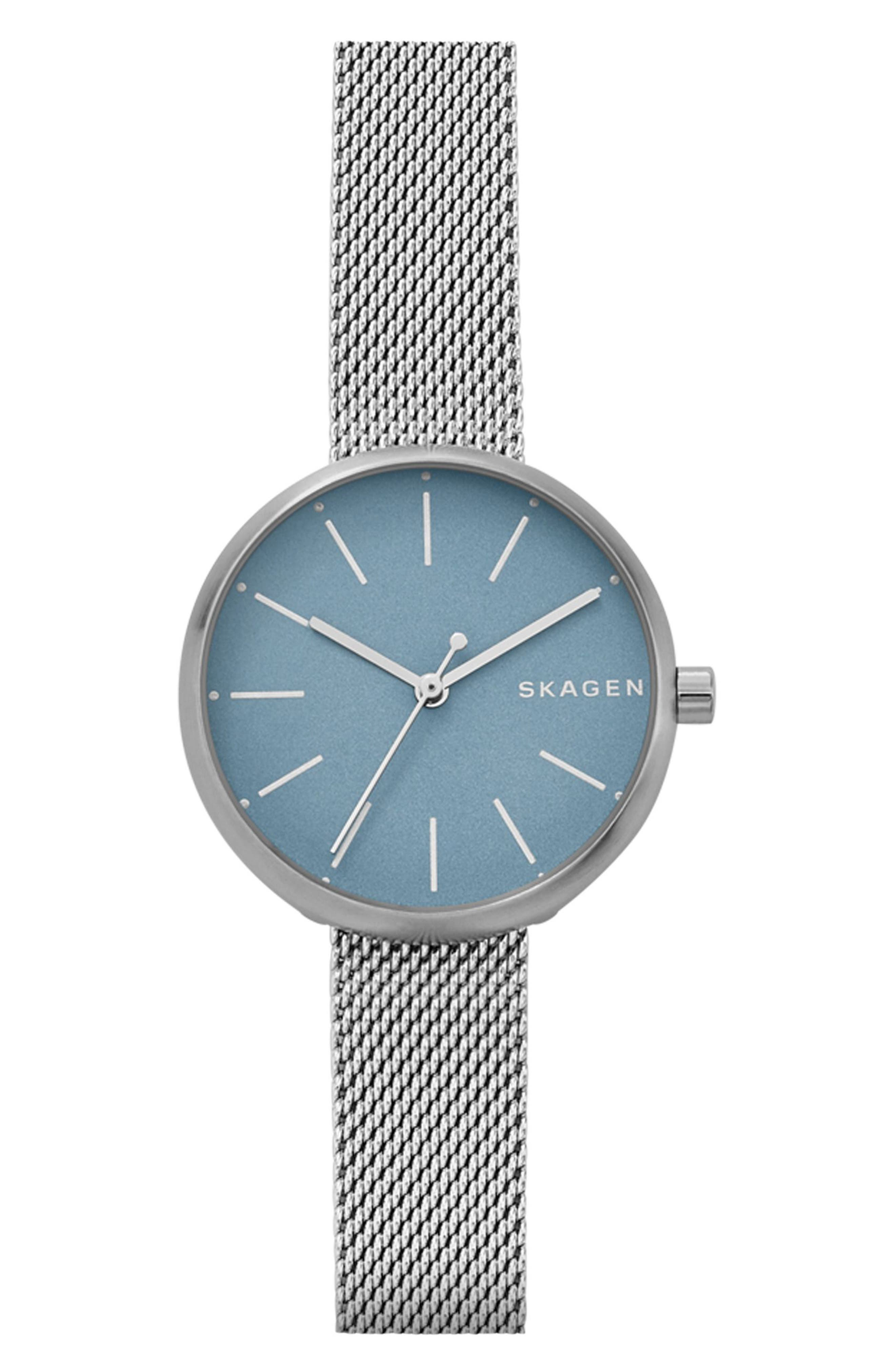 SKAGEN Signatur Mesh Strap Watch, 30mm