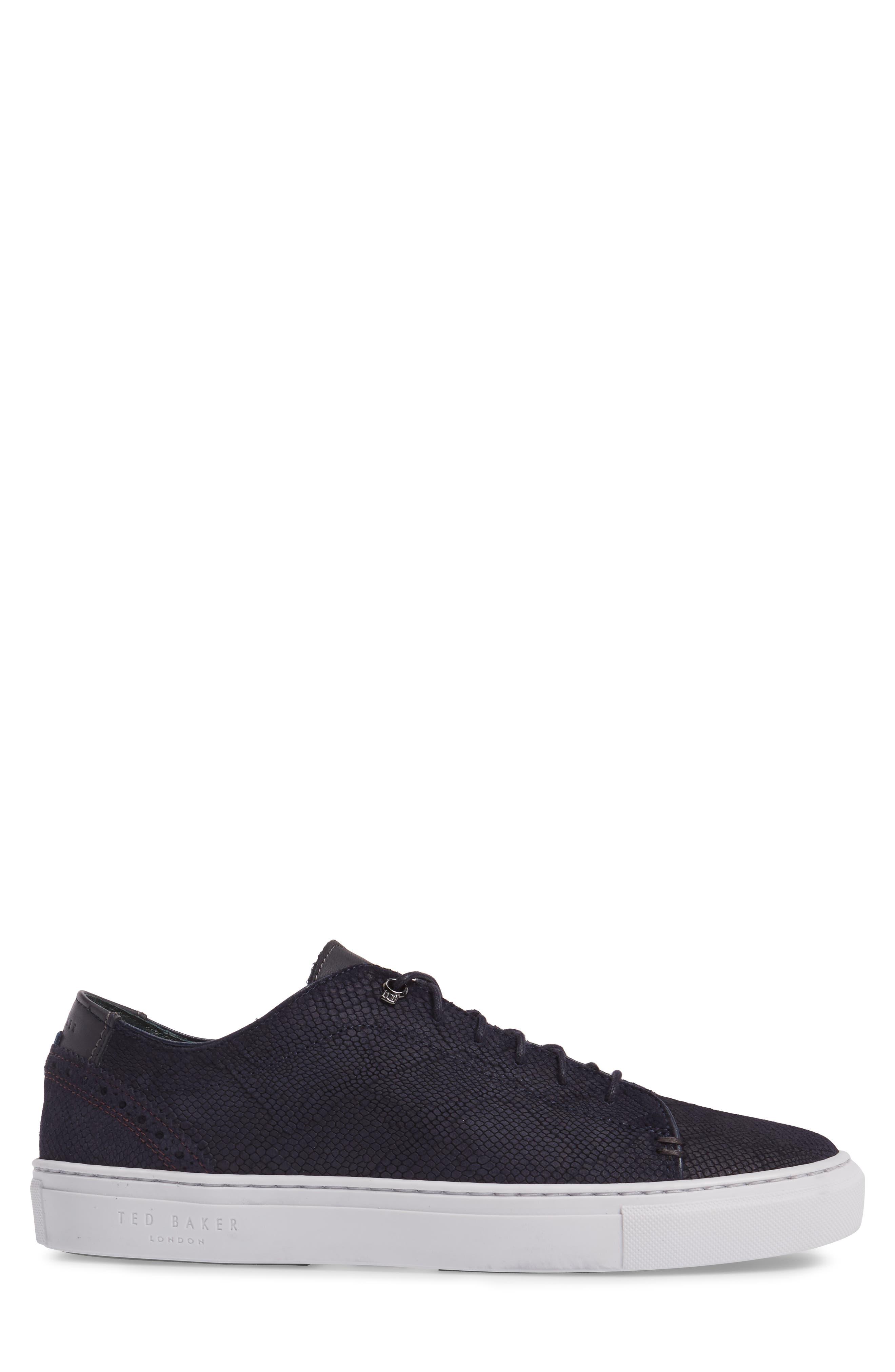Duuke Sneaker,                             Alternate thumbnail 3, color,                             Dark Blue Suede