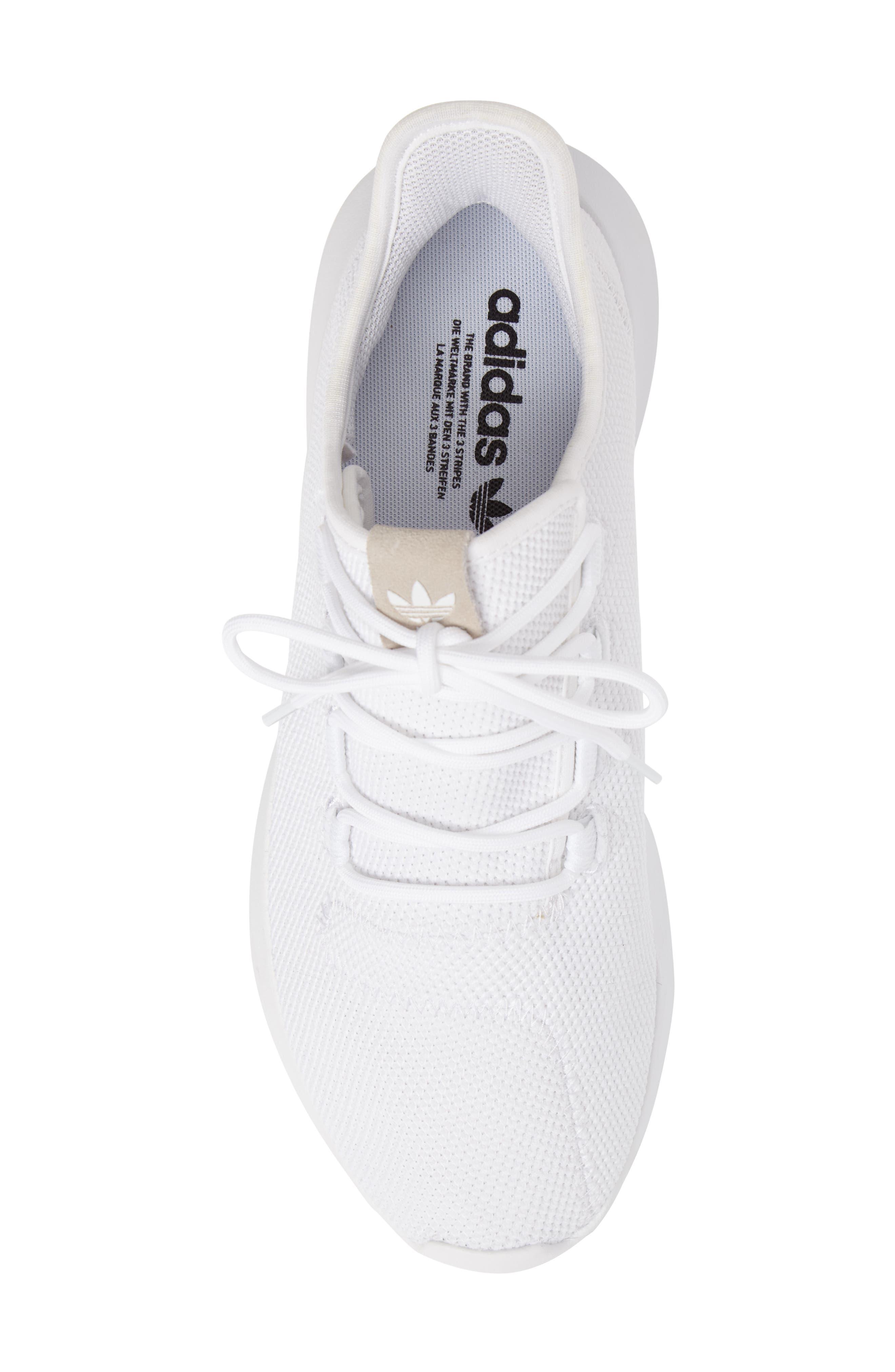 Tubular Shadow Sneaker,                             Alternate thumbnail 5, color,                             White/ Core Black/ White