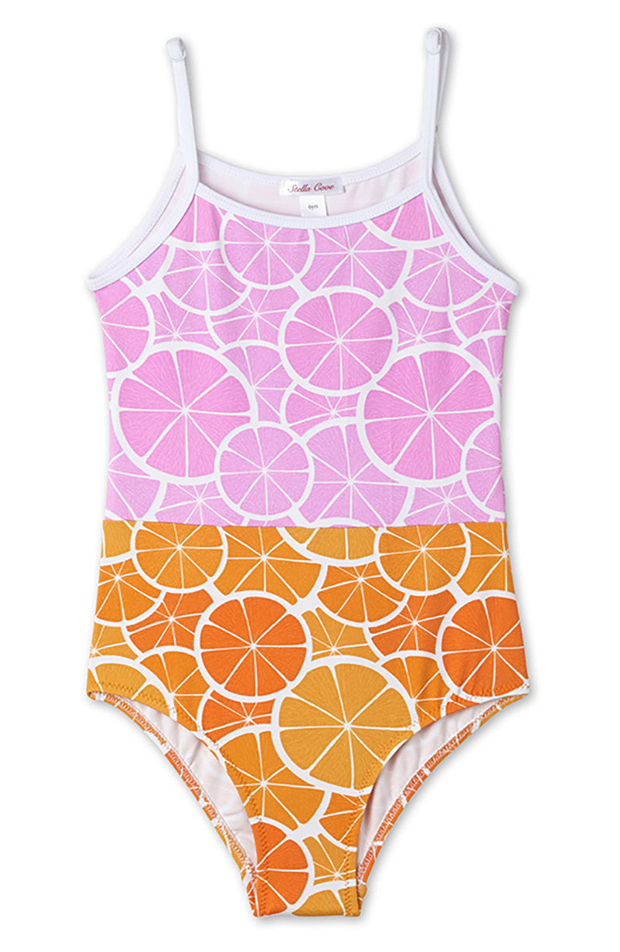 Alternate Image 1 Selected - Stella Cove Orange Slice One-Piece Swimsuit (Toddler Girls, Little Girls & Big Girls)