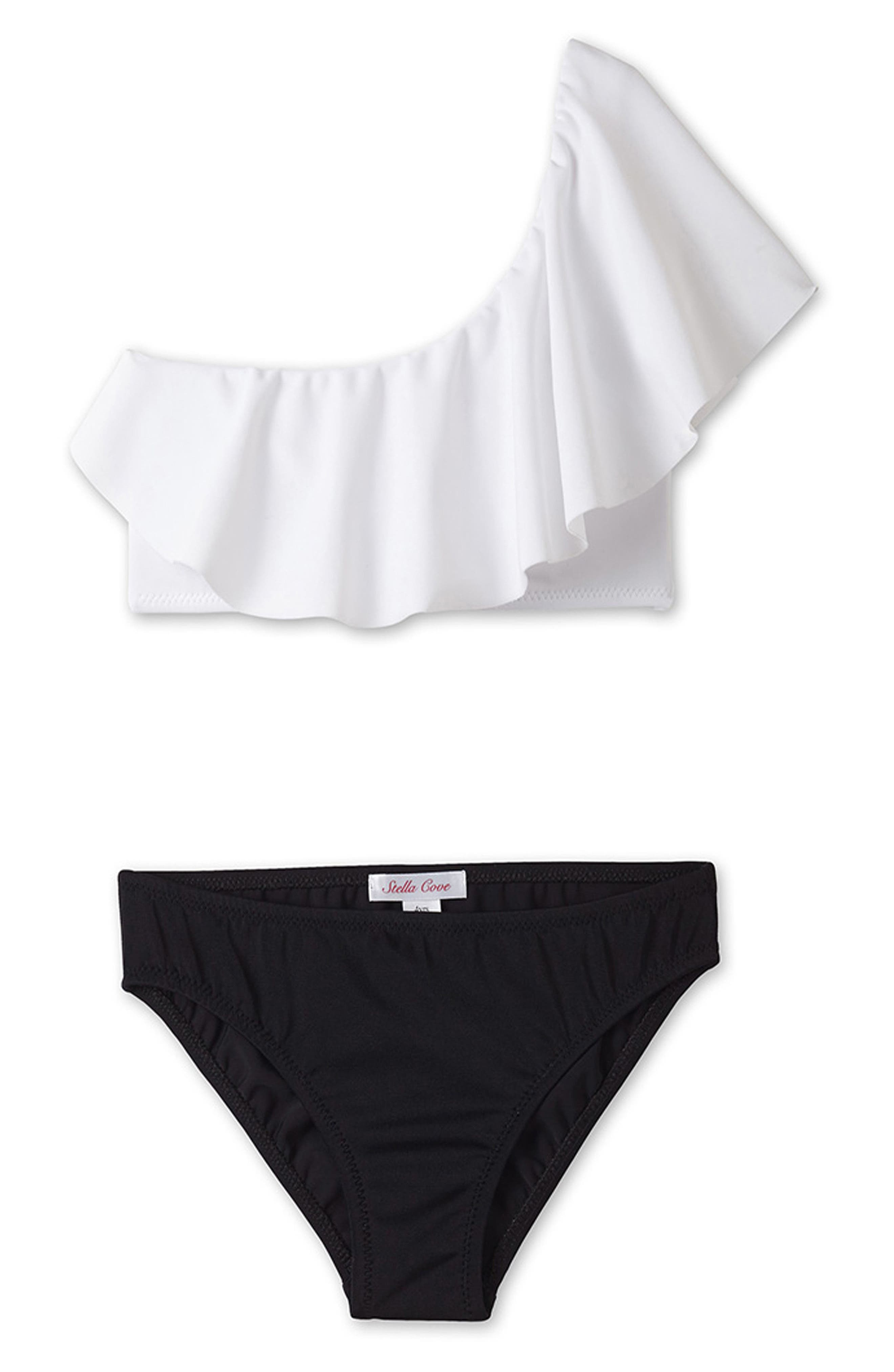 Alternate Image 1 Selected - Stella Cove Two-Piece Swimsuit (Toddler Girls, Little Girls & Big Girls)